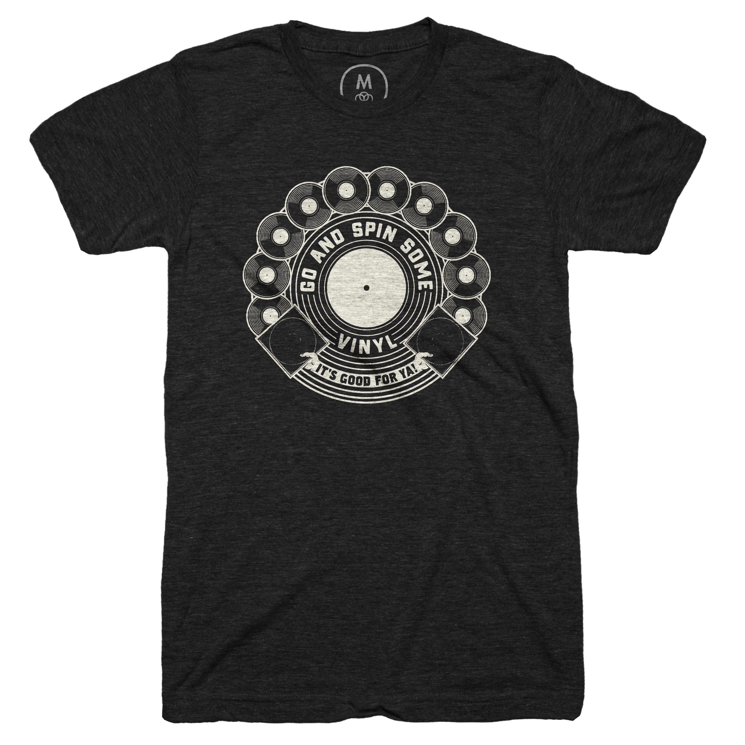 Vinyl's Good For Ya! Vintage Black (Men's)