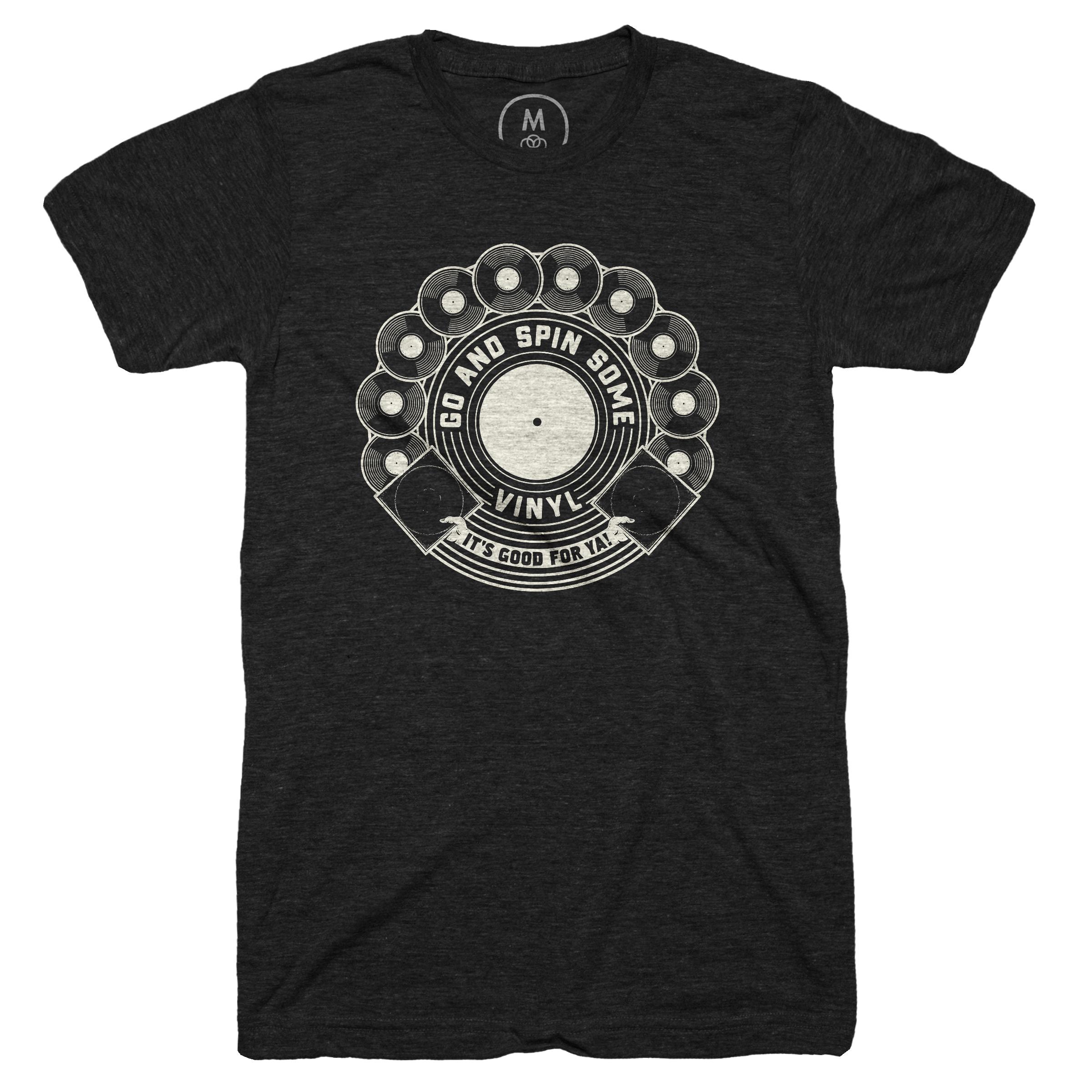Vinyl's Good For Ya! Vintage Black (Men's)