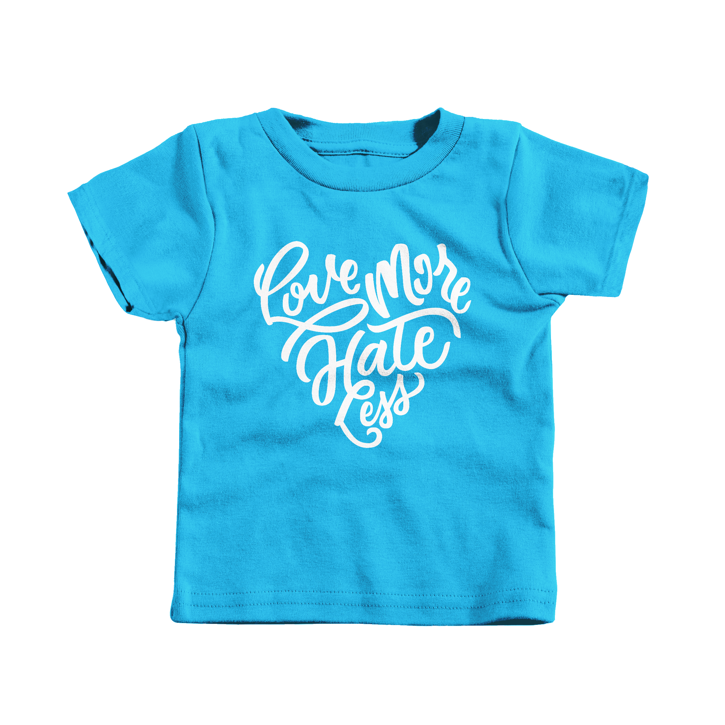 Love More Hate Less Turquoise (T-Shirt)