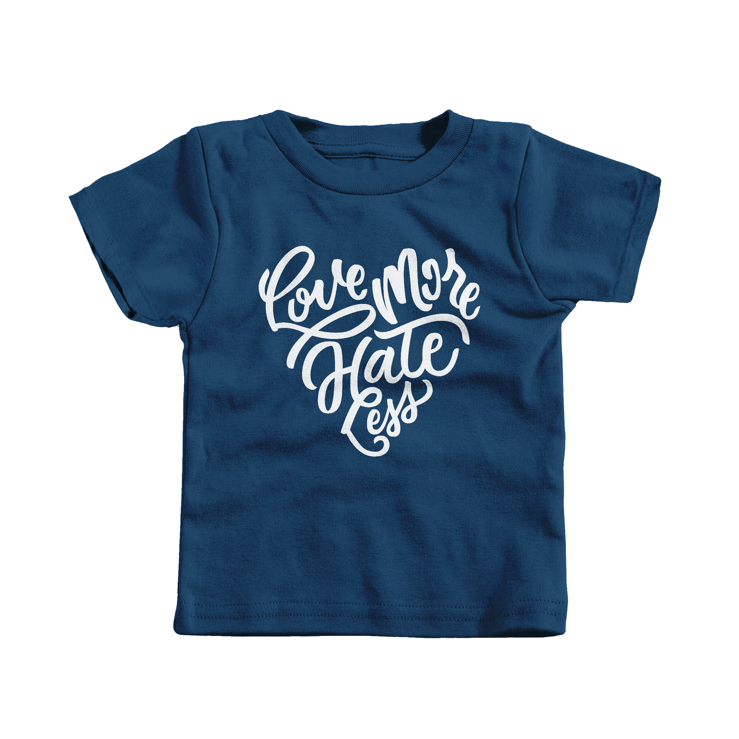 Love More Hate Less Navy (T-Shirt)