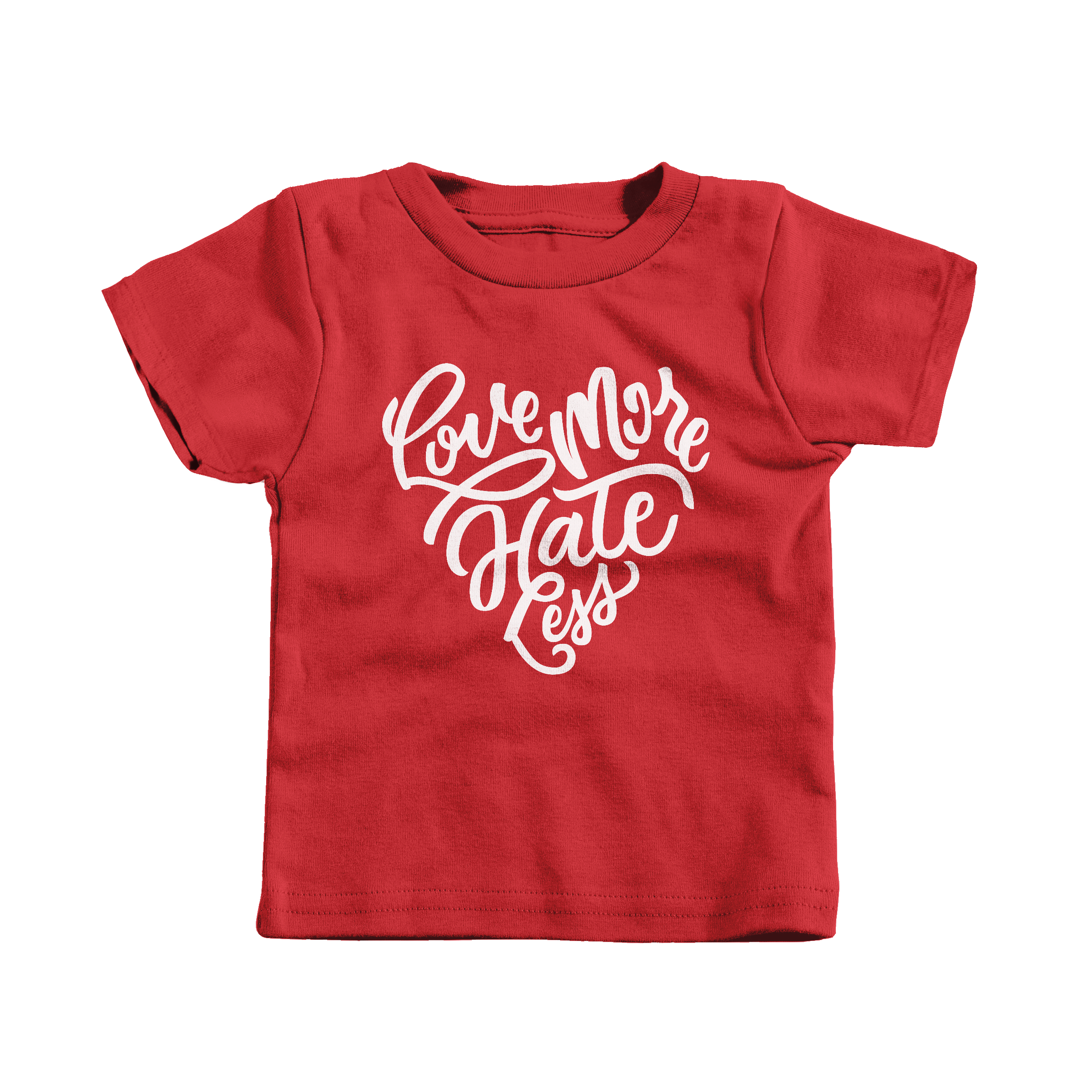 Love More Hate Less Red (T-Shirt)