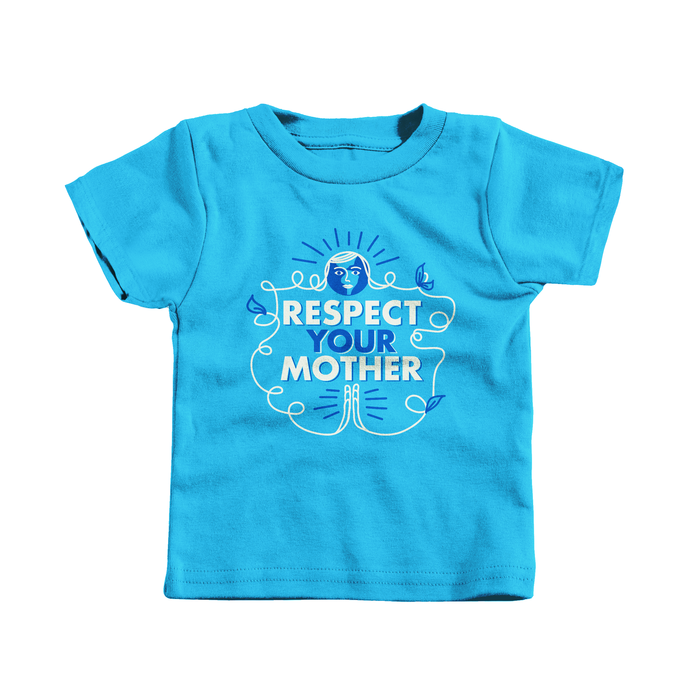 Respect Your Mother Turquoise (T-Shirt)