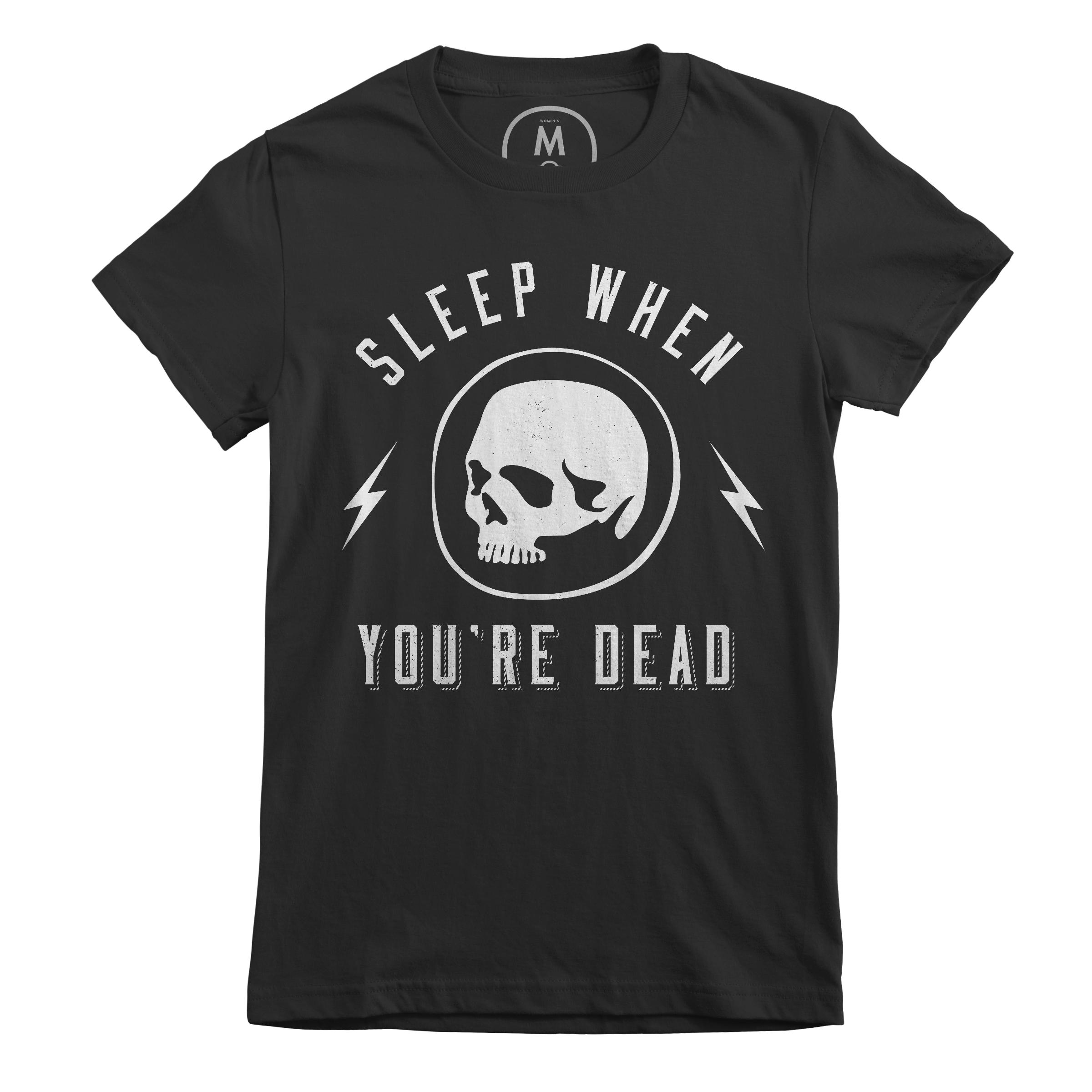 Sleep When You're Dead Black (Women's)