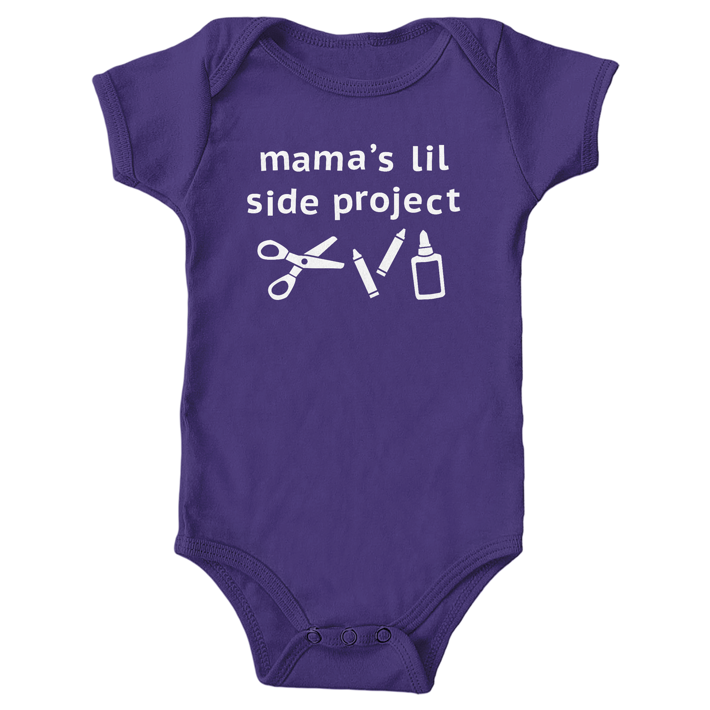 Mama's Lil Side Project Purple (Onesie)