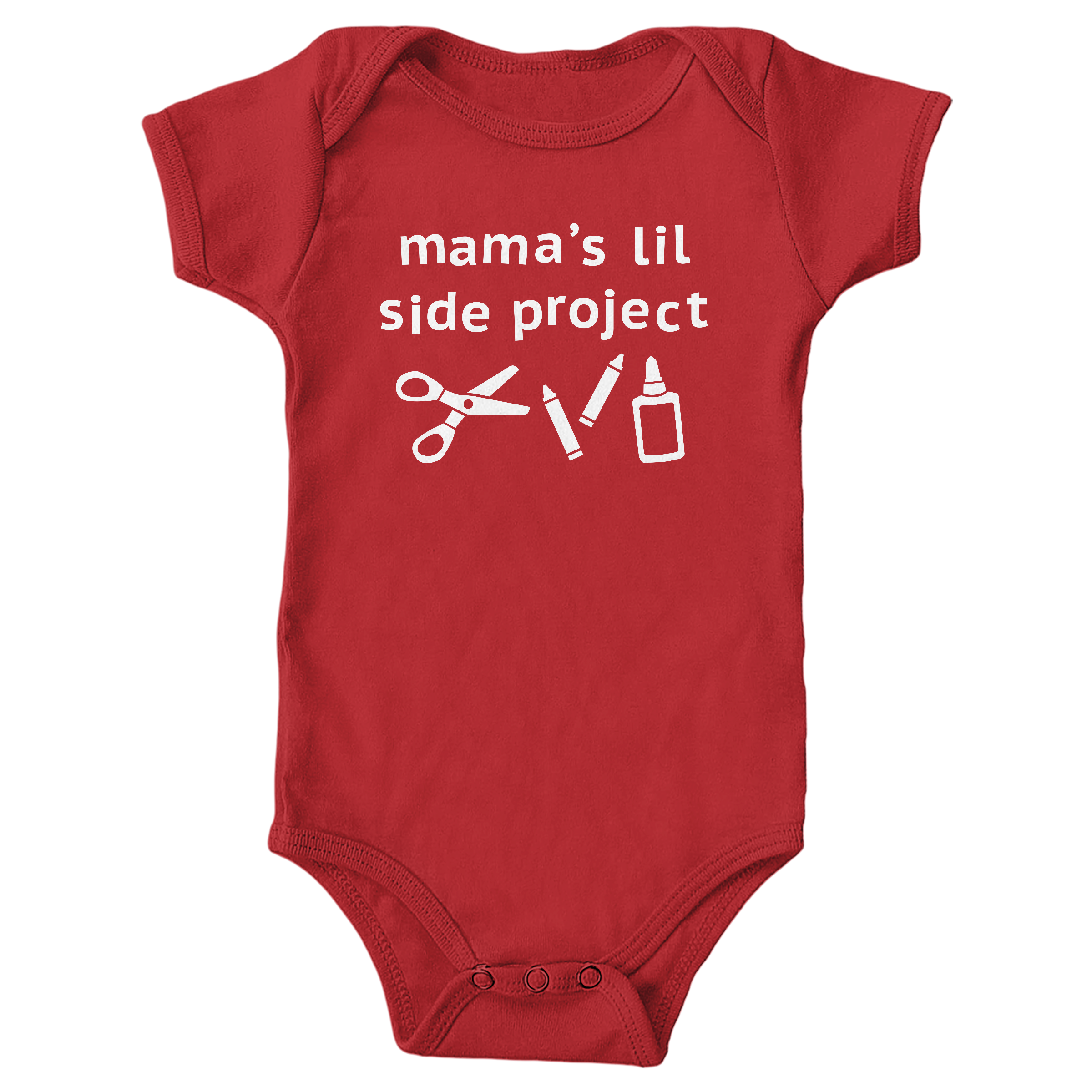 Mama's Lil Side Project Red (Onesie)