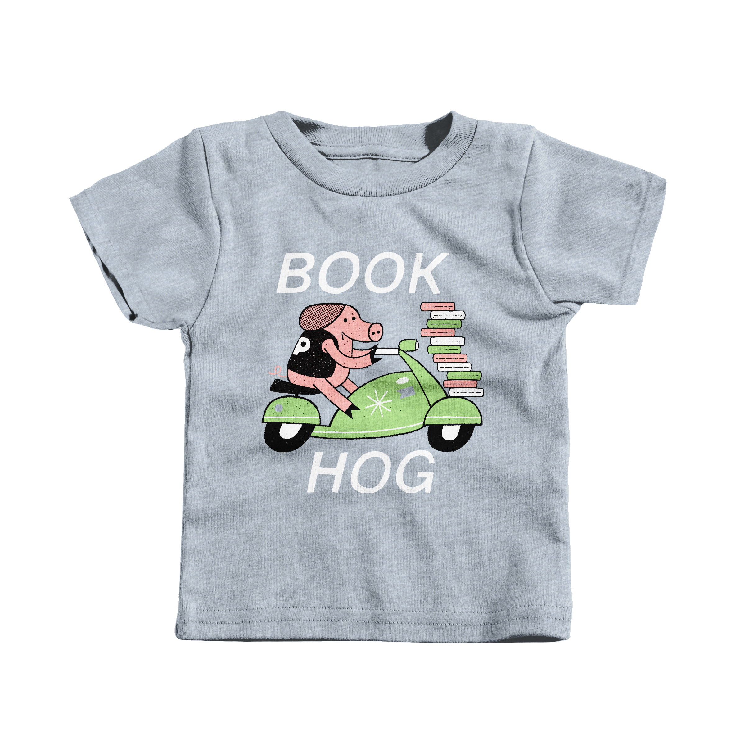 Book Hog! Heather Grey (T-Shirt)
