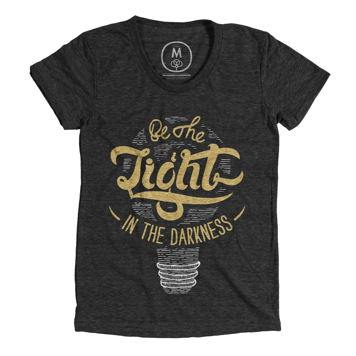 be the light graphic tee by anchor supply cotton bureau. Black Bedroom Furniture Sets. Home Design Ideas