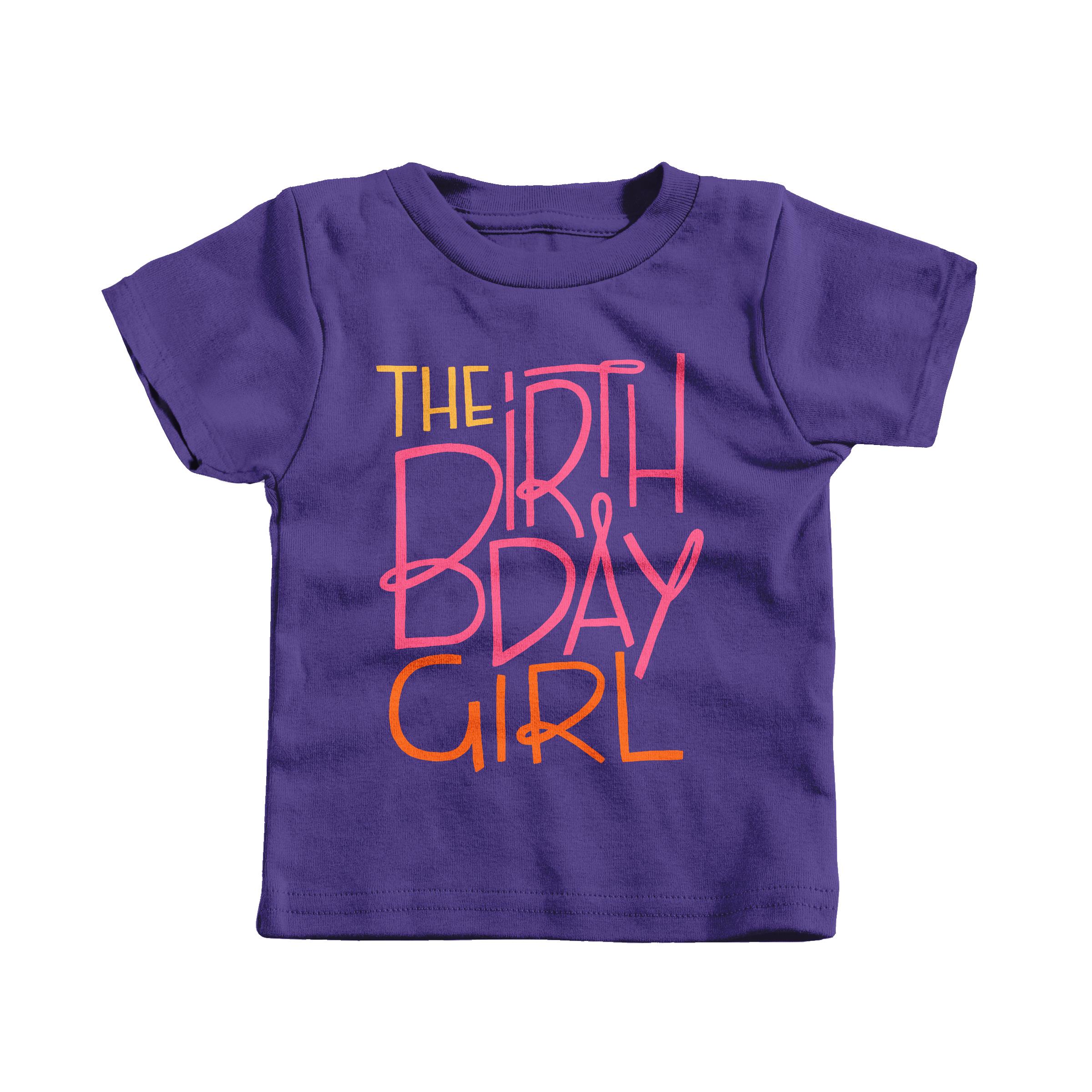The Birthday Girl! Purple (T-Shirt)