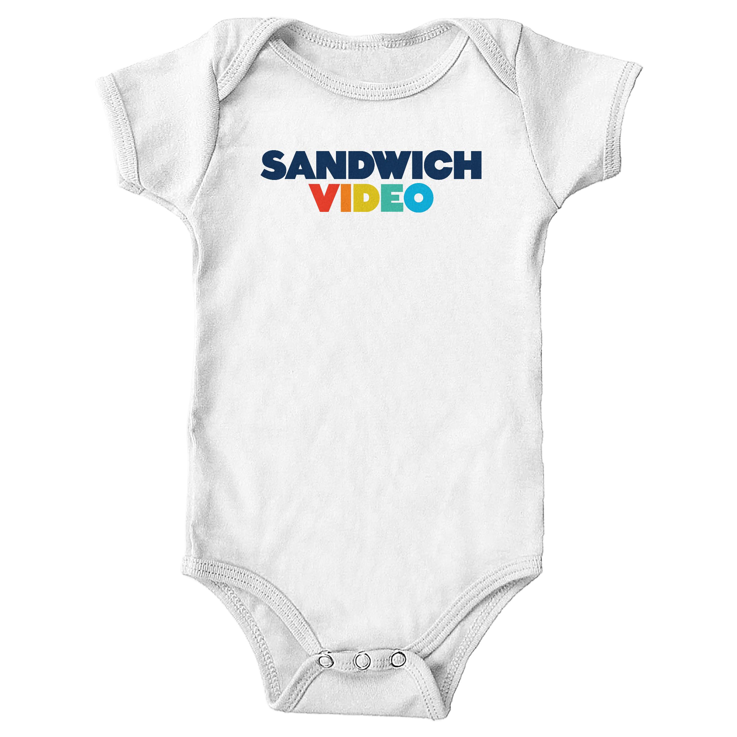 """Sandwich Video """"The Modern"""" White (Onesie)"""