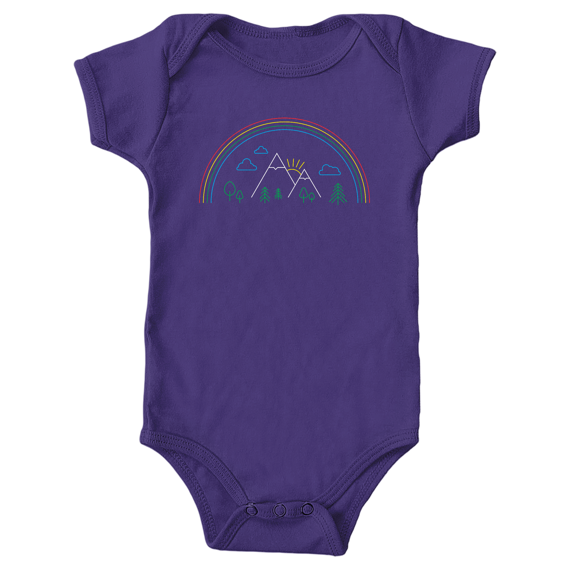 Mountain Pride Purple (Onesie)