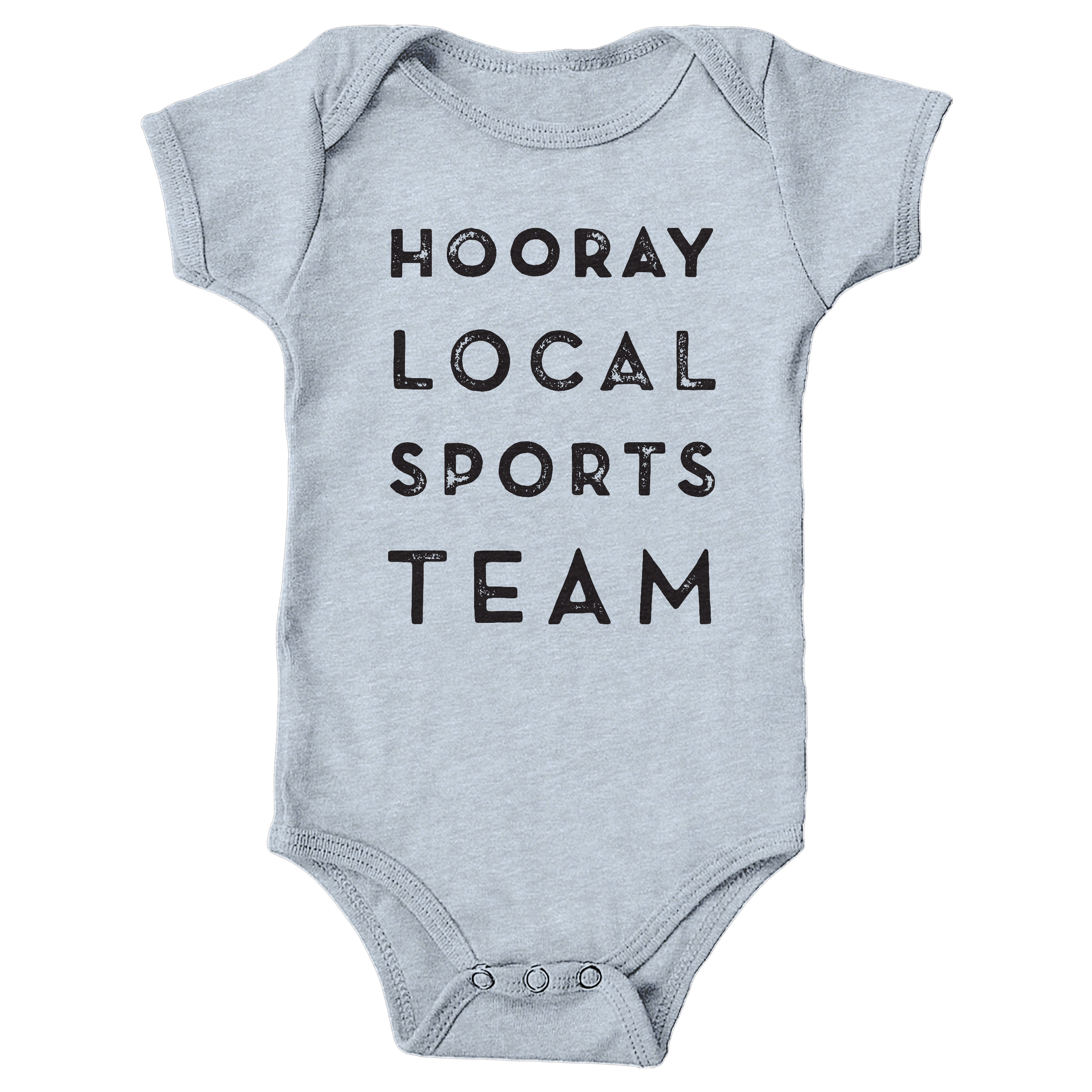 Hooray Local Sports Team Heather Grey (Onesie)
