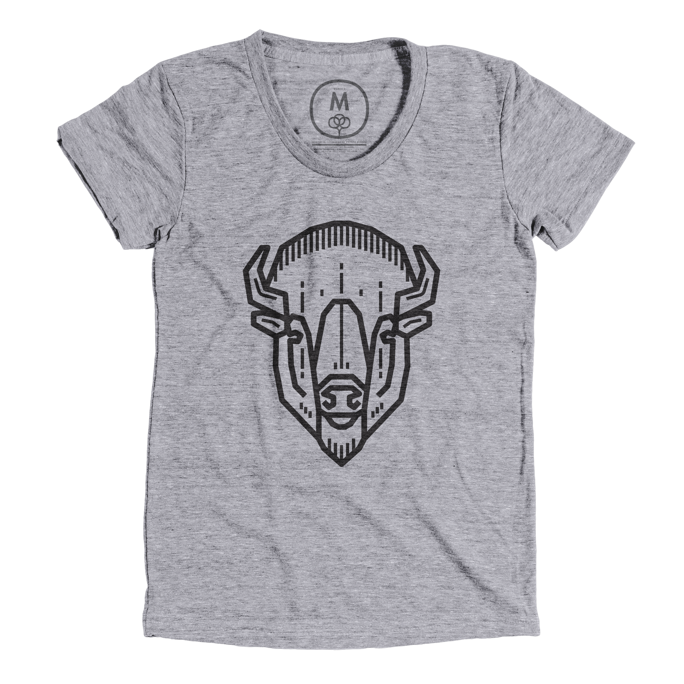 Bison Head Premium Heather (Women's)