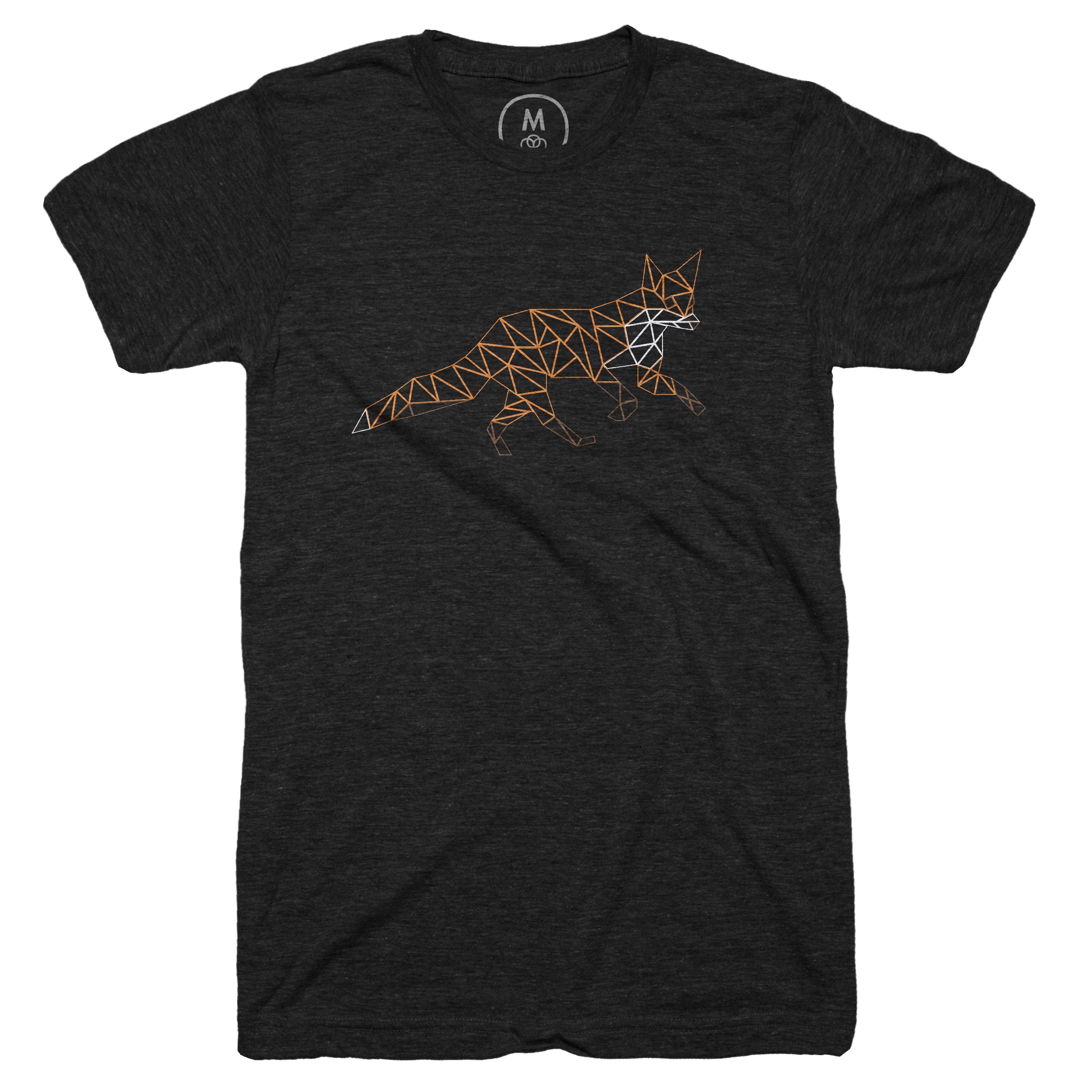 The Low Poly Fox Vintage Black (Men's)