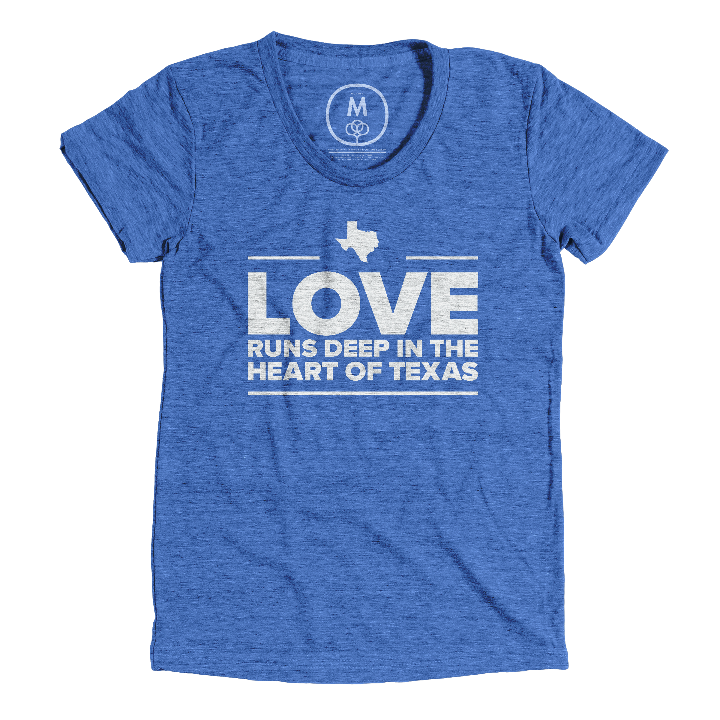 Love is Deep in the Heart of Texas Vintage Royal (Women's)
