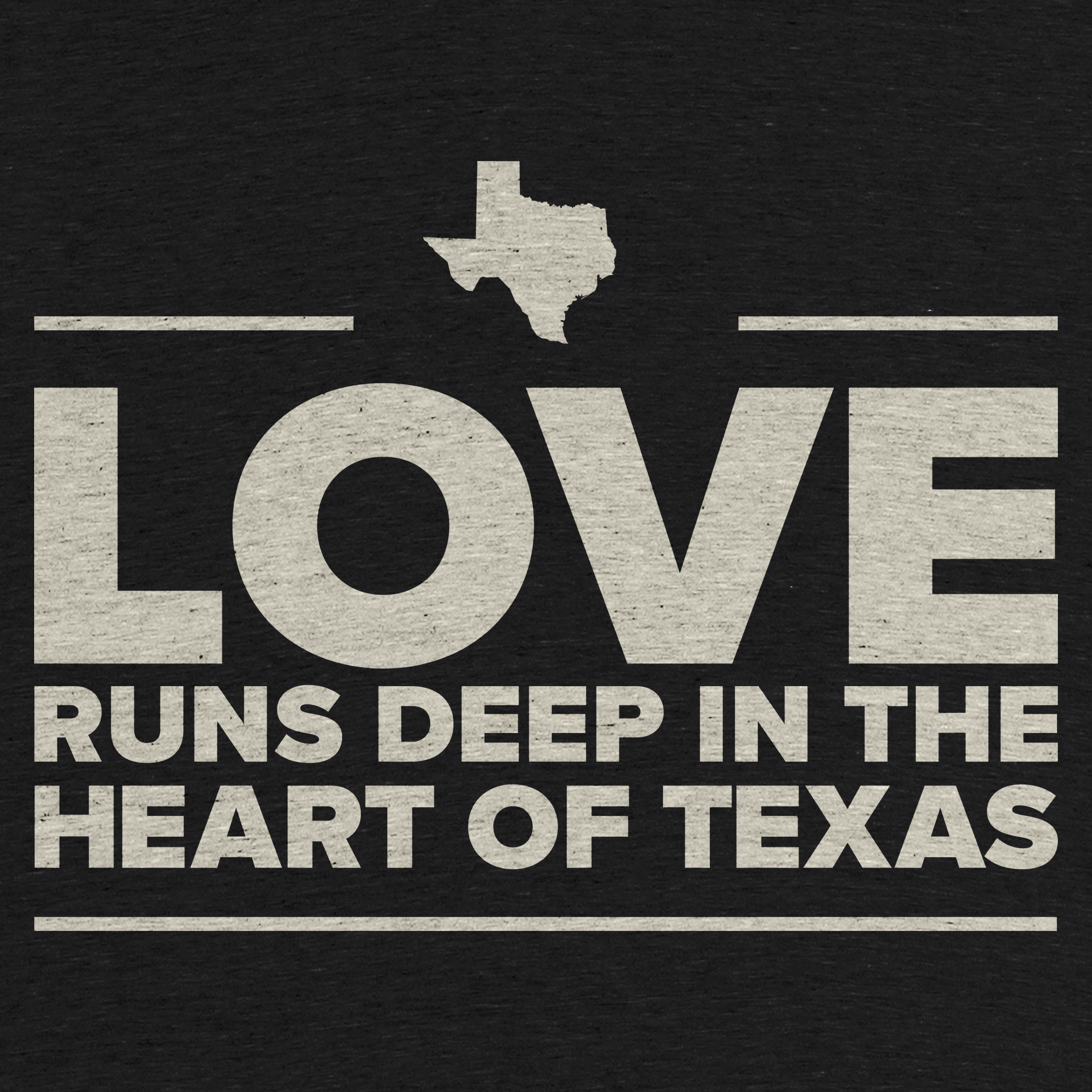 Love is Deep in the Heart of Texas Detail