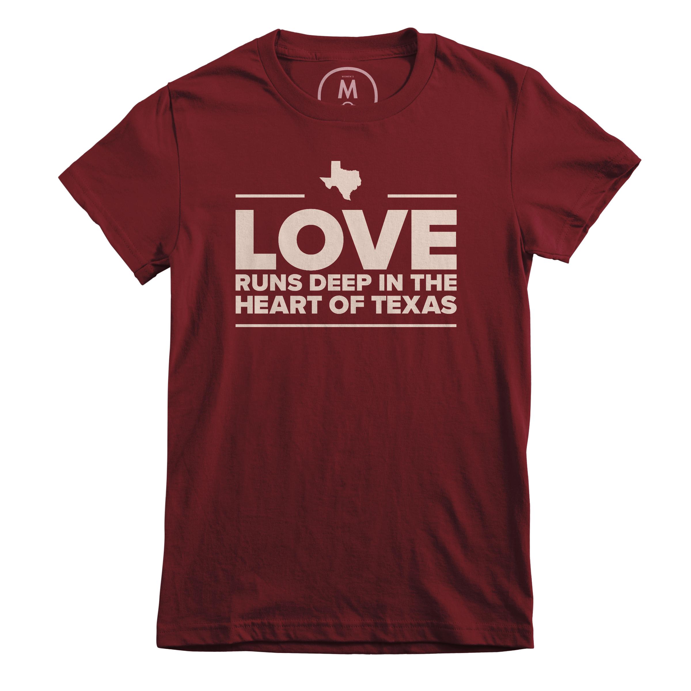 Love is Deep in the Heart of Texas Maroon (Women's)