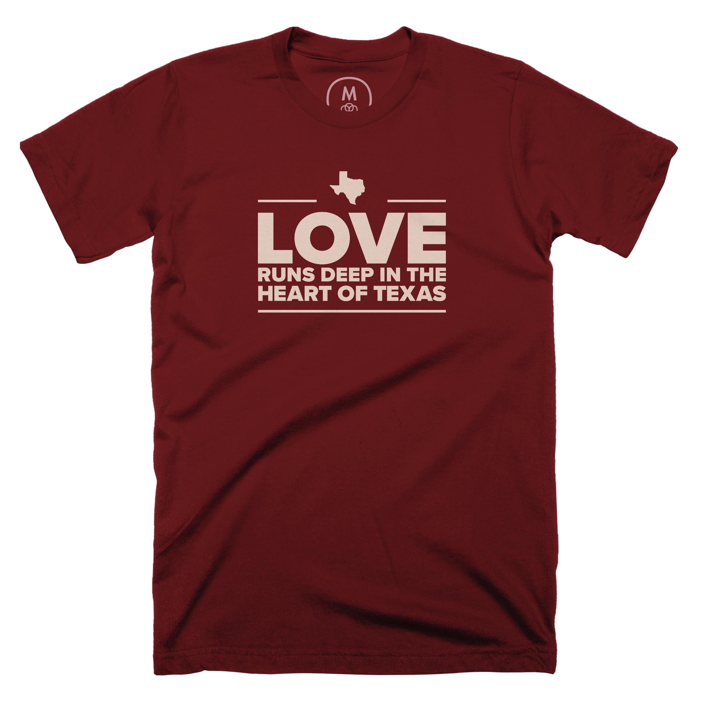 Love is Deep in the Heart of Texas Maroon (Men's)