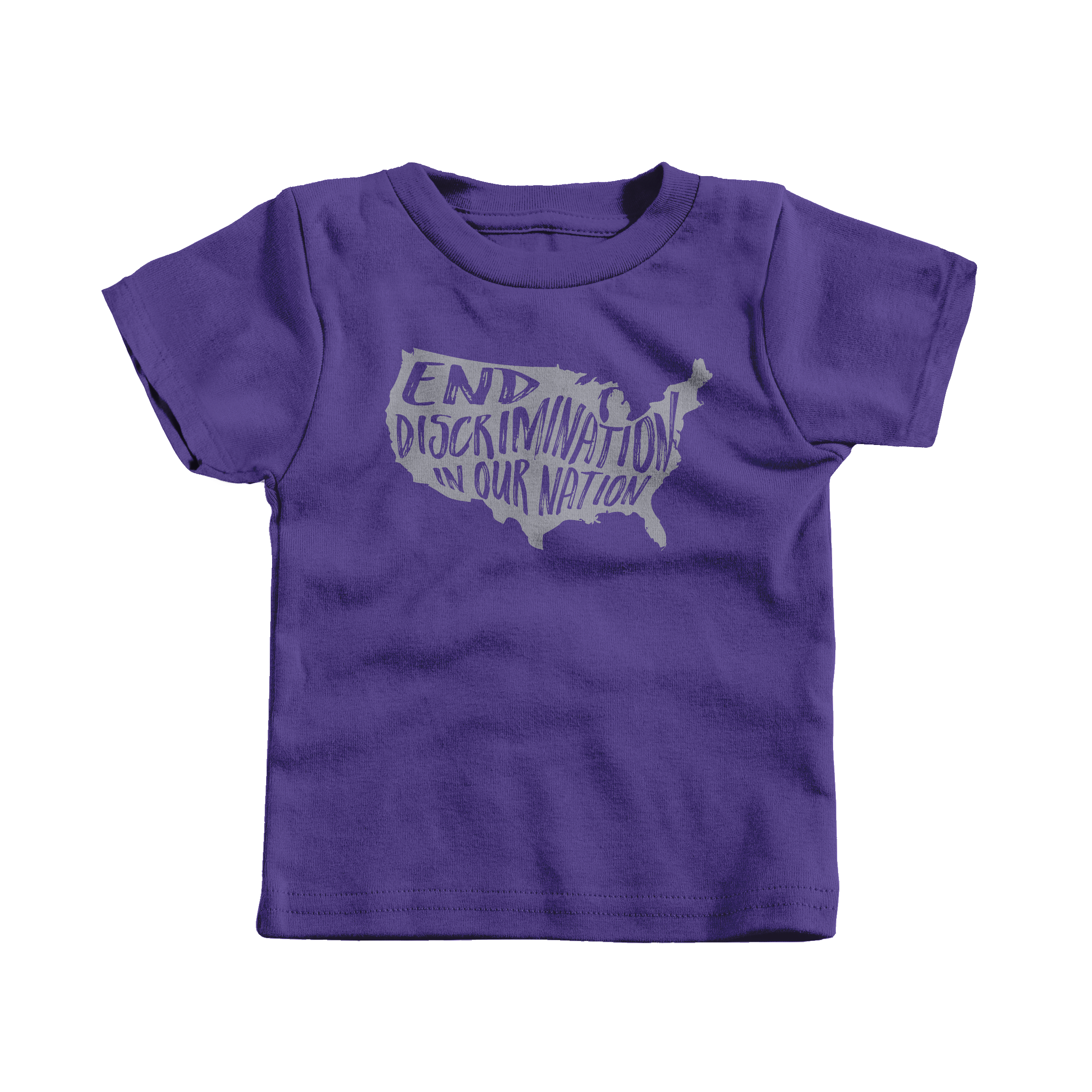 End Discrimination in Our Nation Purple (T-Shirt)