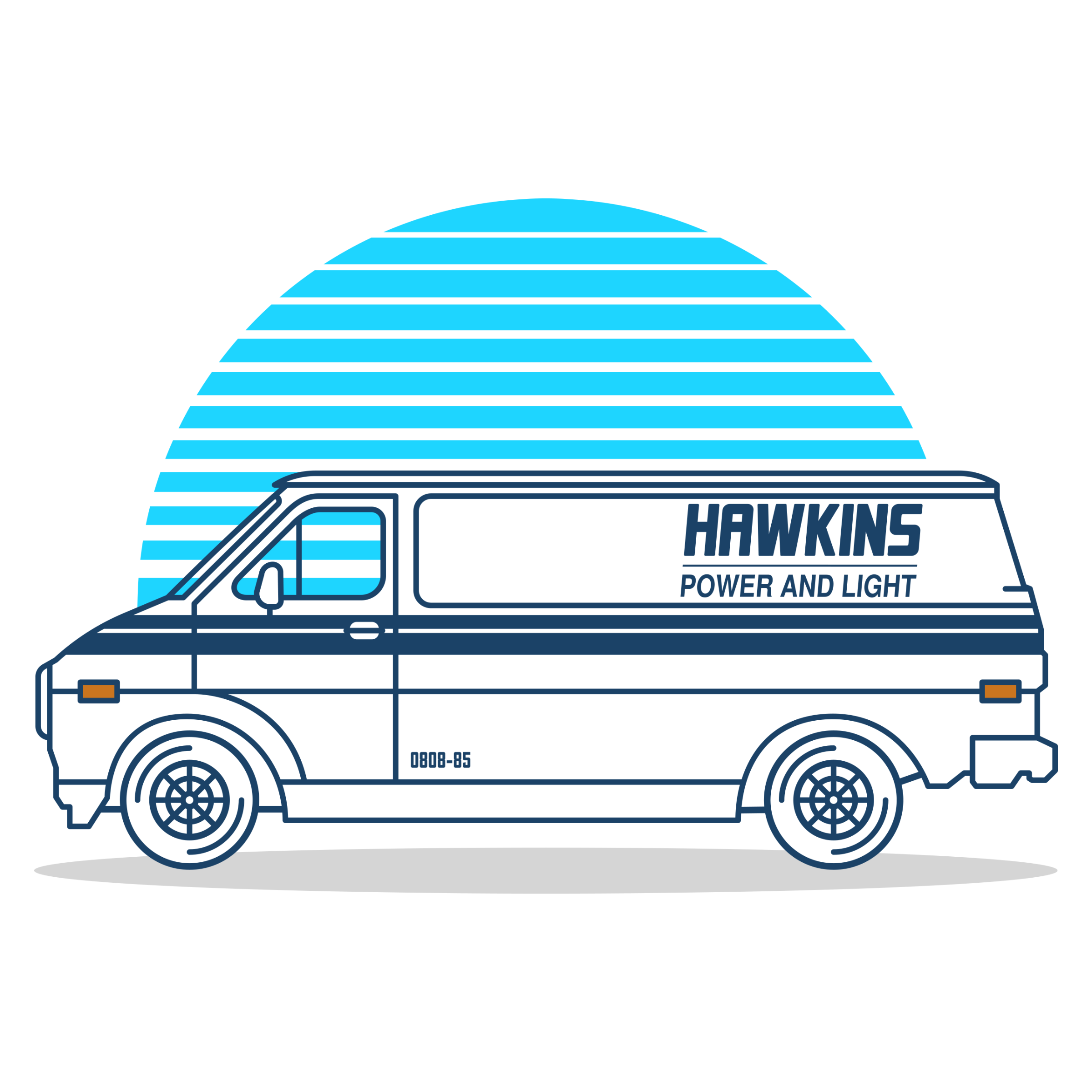 Hawkins Power and Light Van Detail