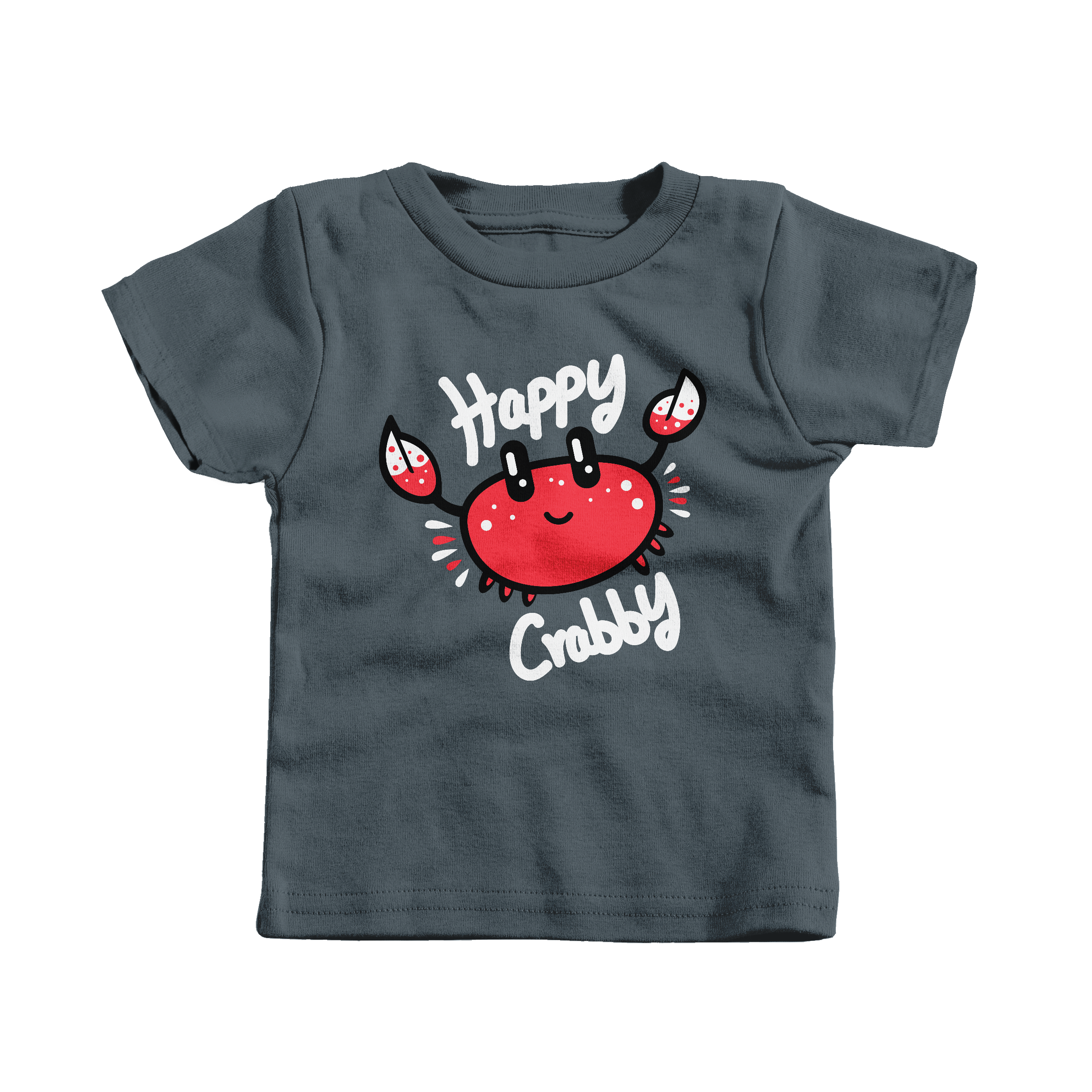Happy Crabby Charcoal (T-Shirt)
