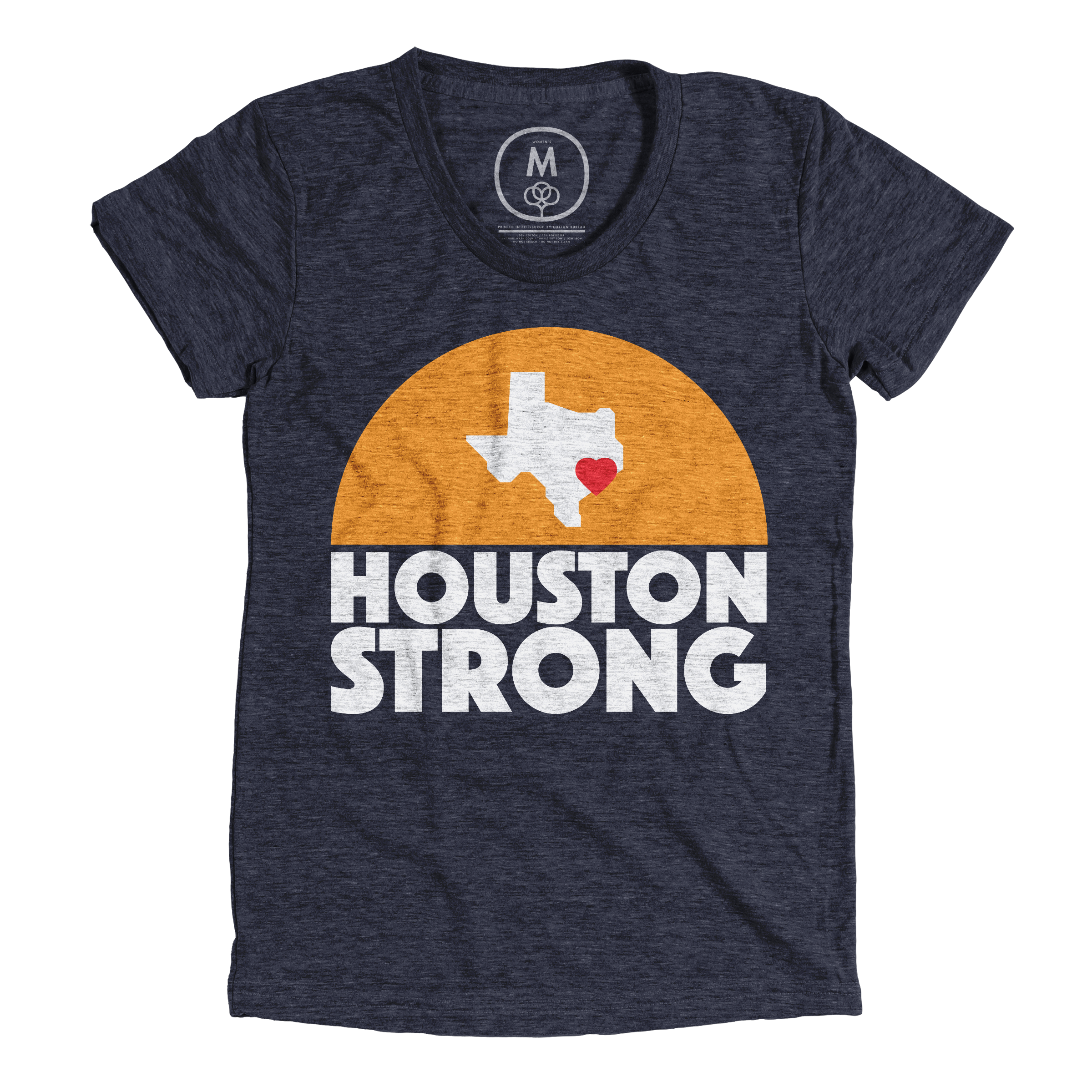 Houston Strong Vintage Navy (Women's)