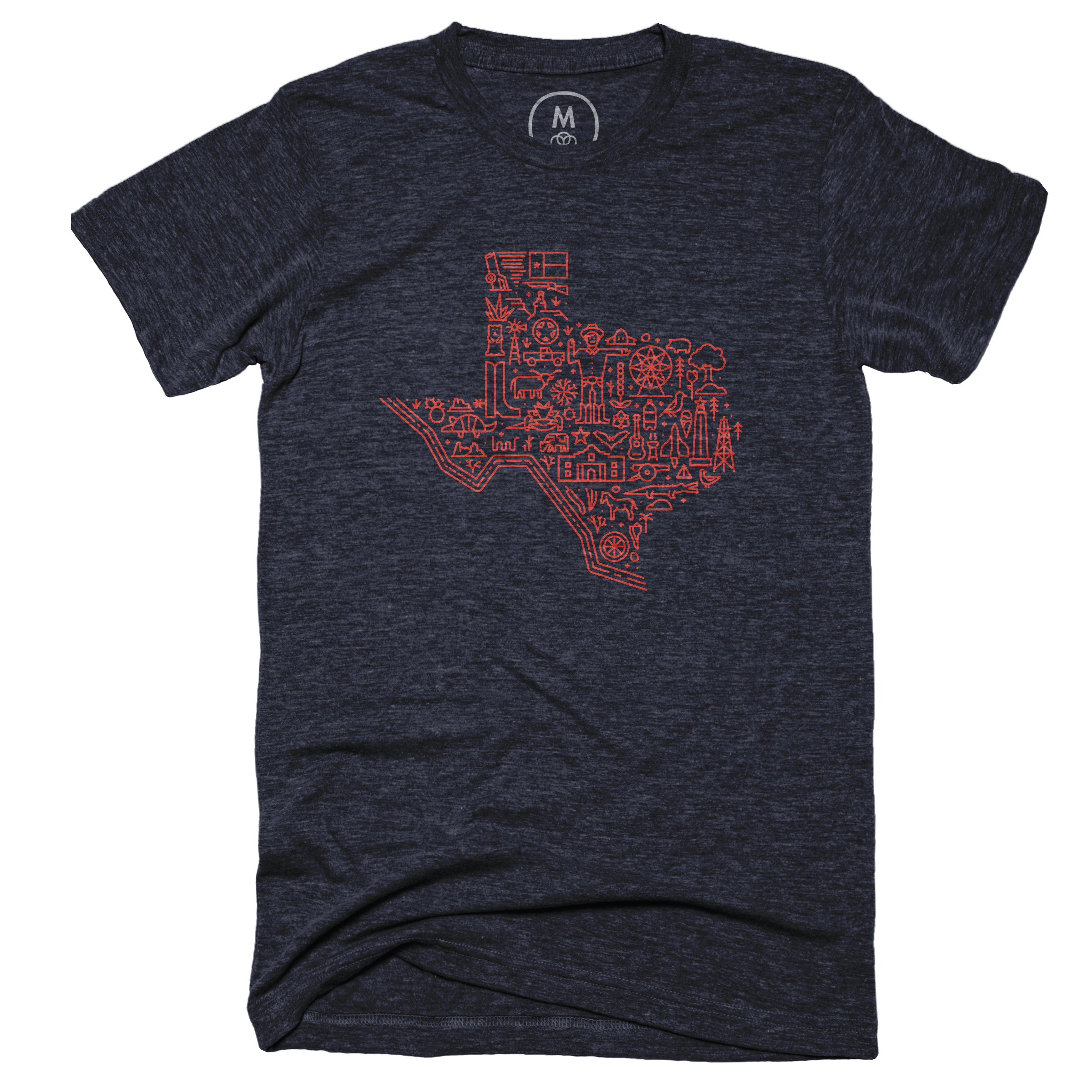 Icon Map of Texas