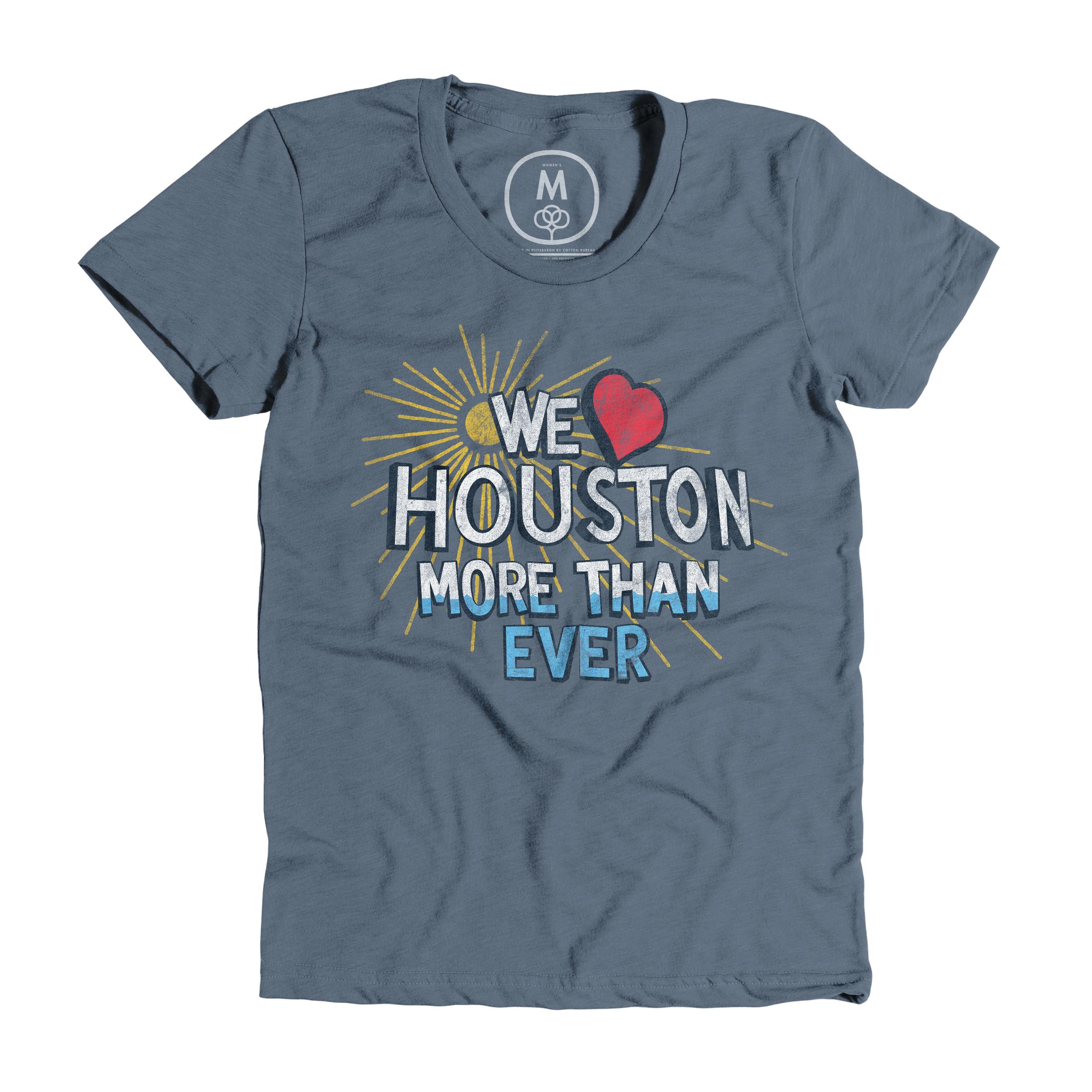 We Love Houston Indigo (Women's)
