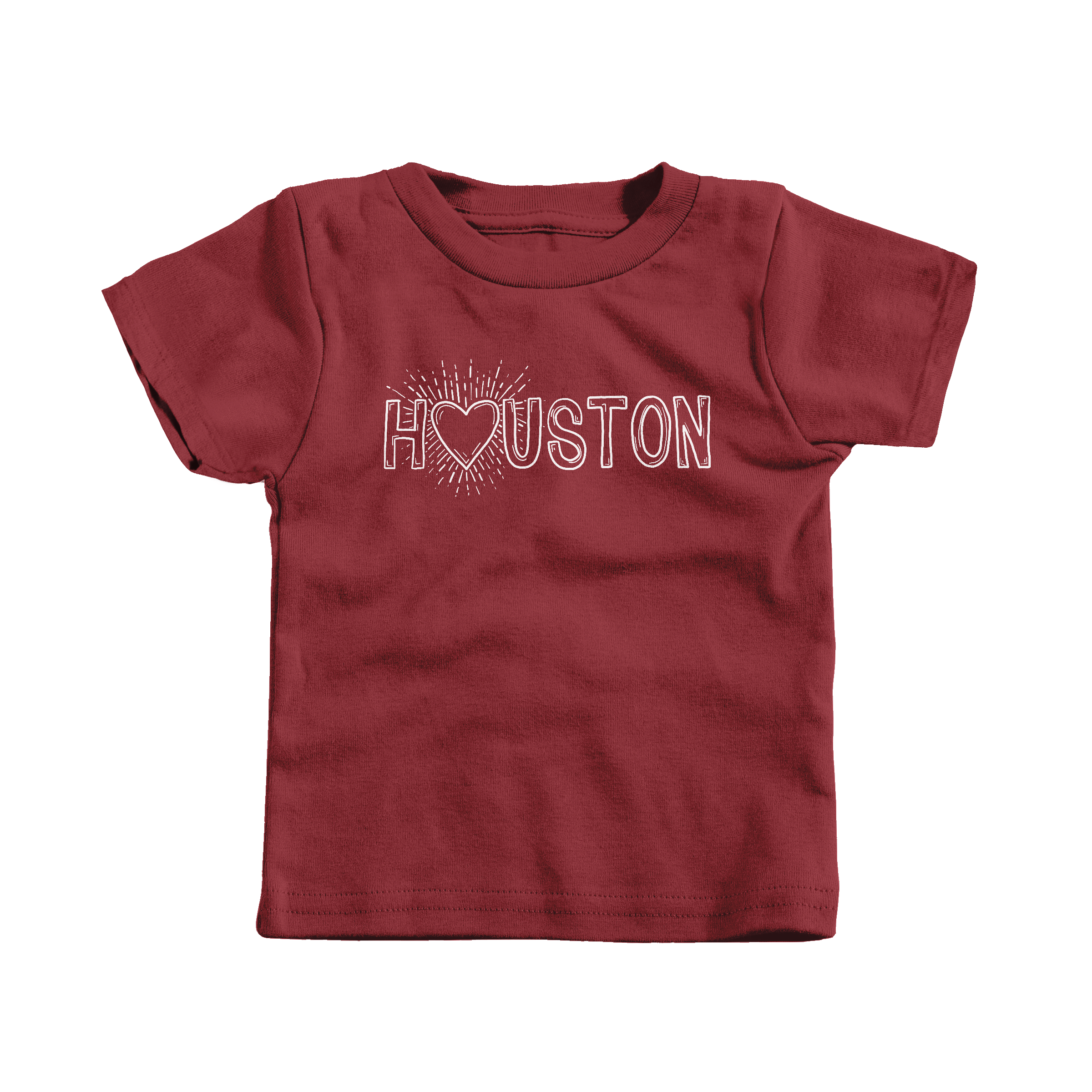 My Heart is With Houston Garnet (T-Shirt)