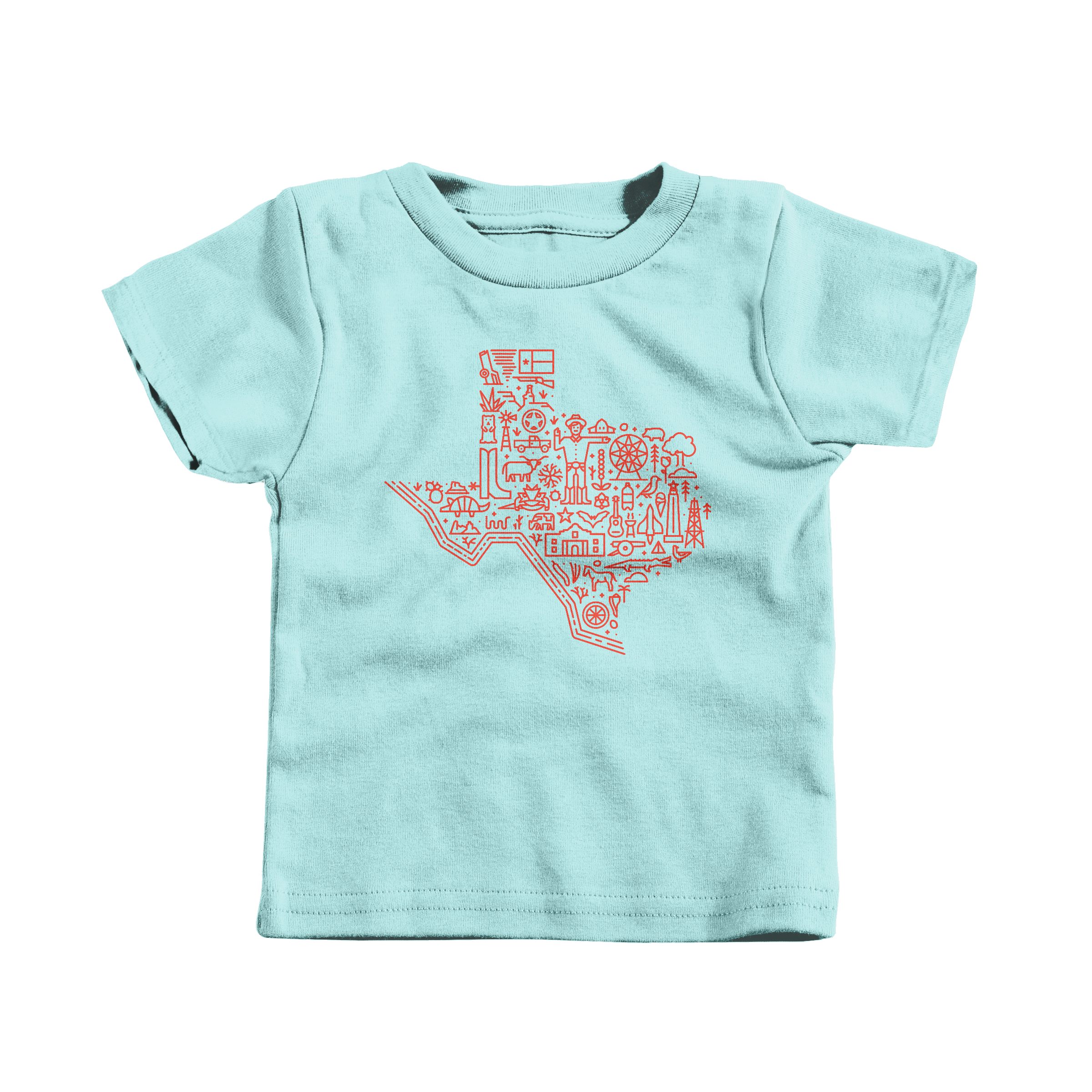 Icon Map of Texas Chill (T-Shirt)