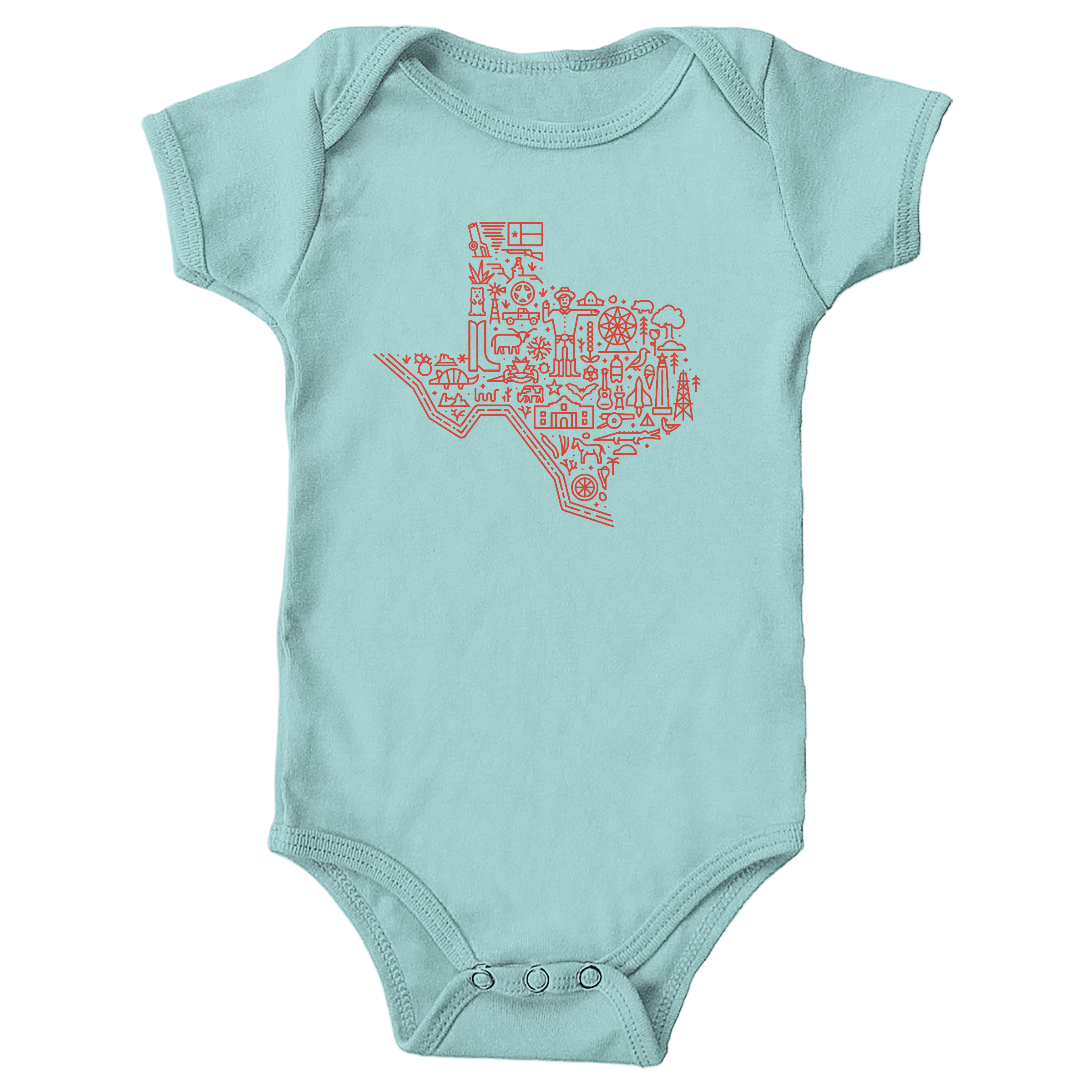 Icon Map of Texas Chill (Onesie)