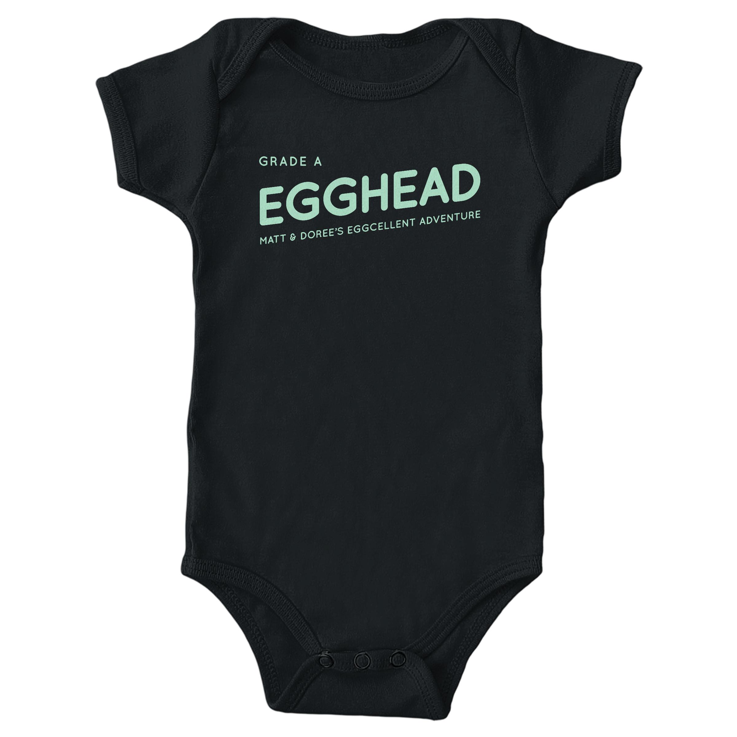 Egghead Black (Onesie)