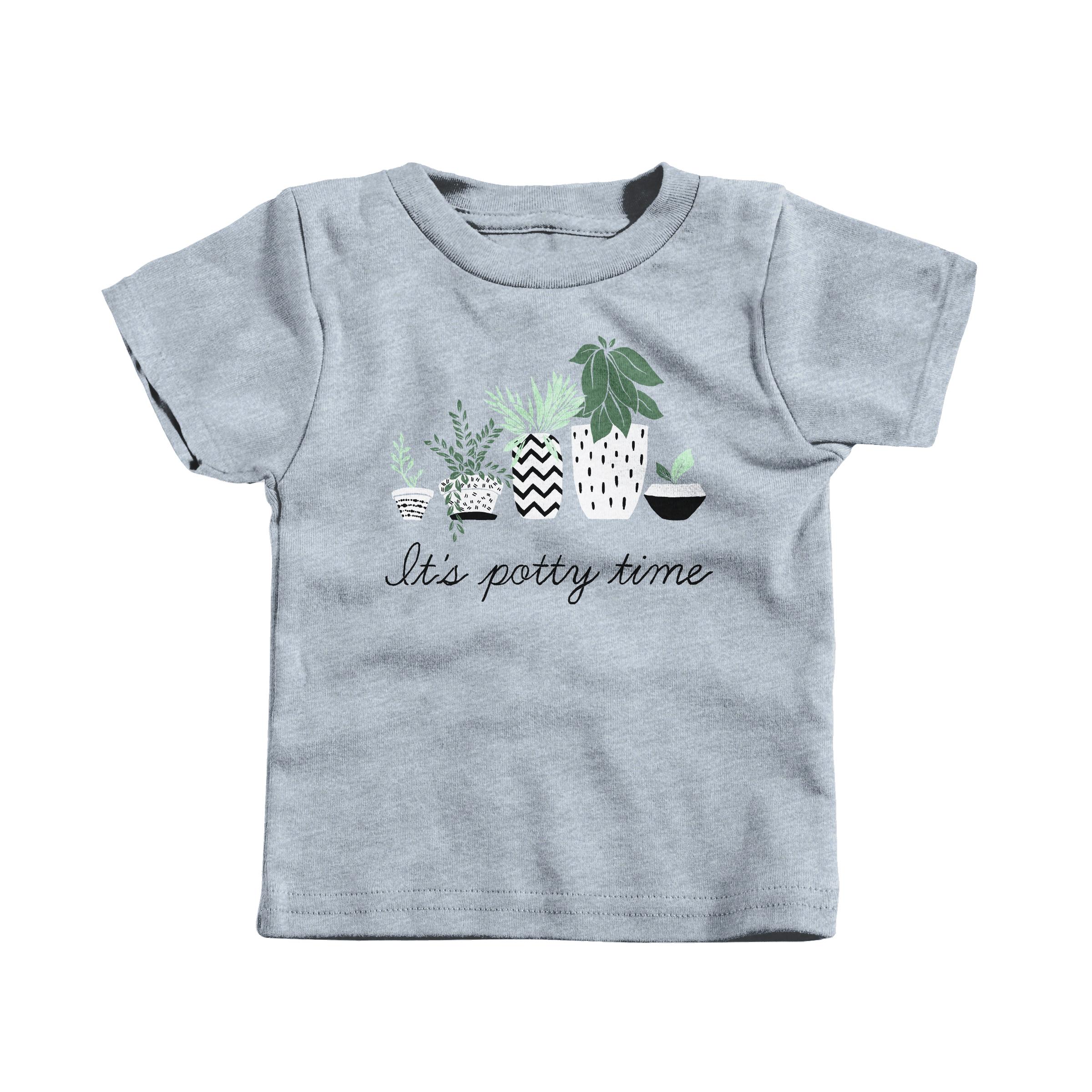 Potty Time Heather Grey (T-Shirt)