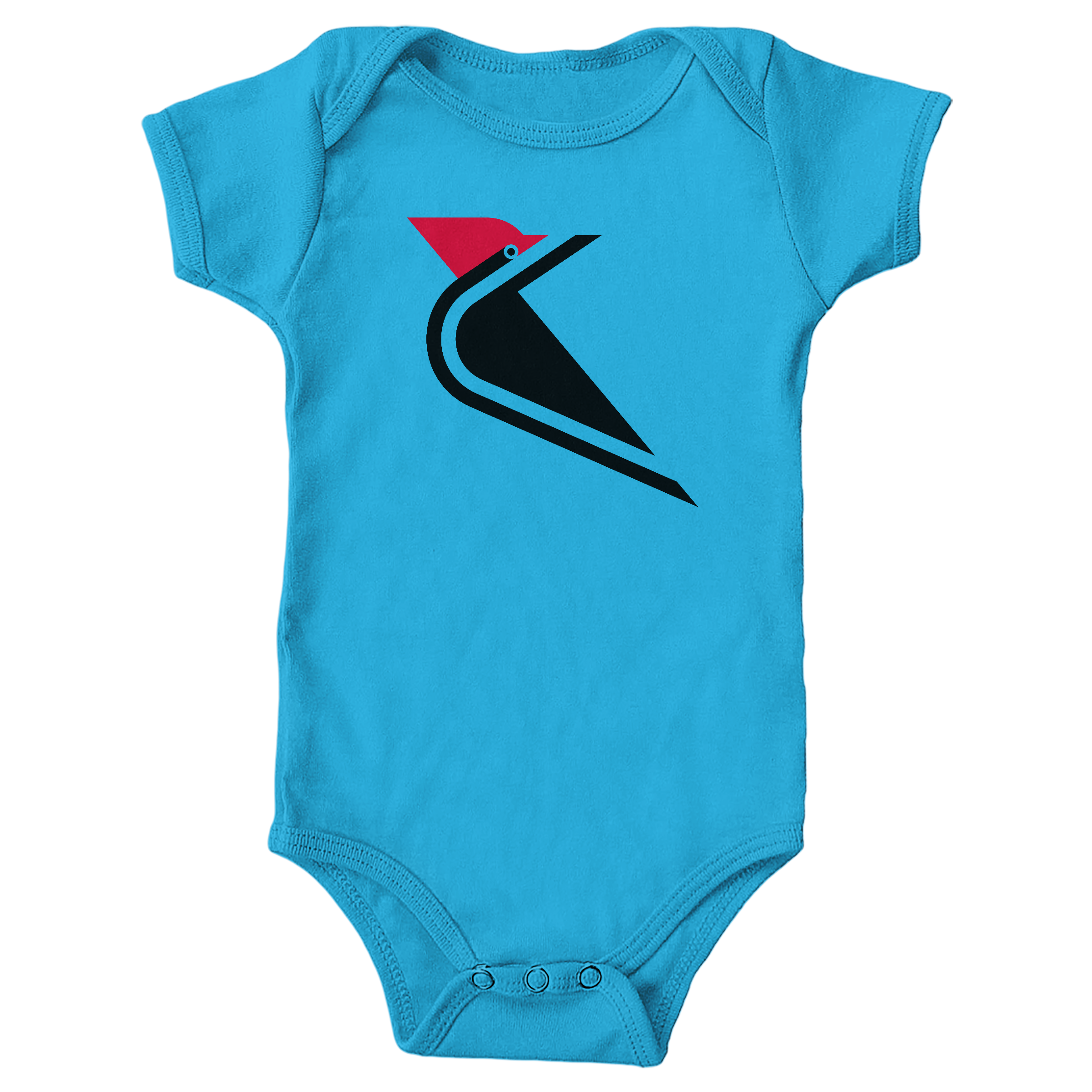 Pileated  Woodpecker Turquoise (Onesie)