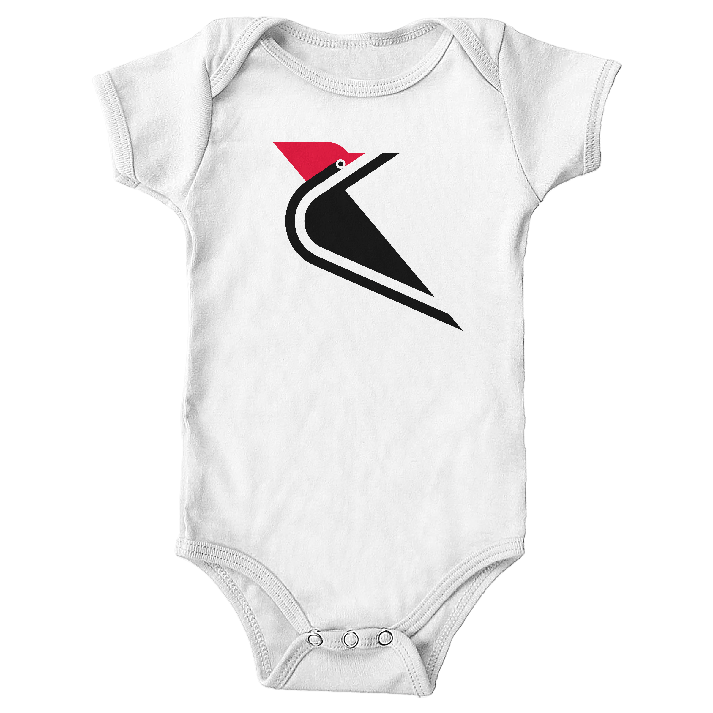 Pileated  Woodpecker White (Onesie)