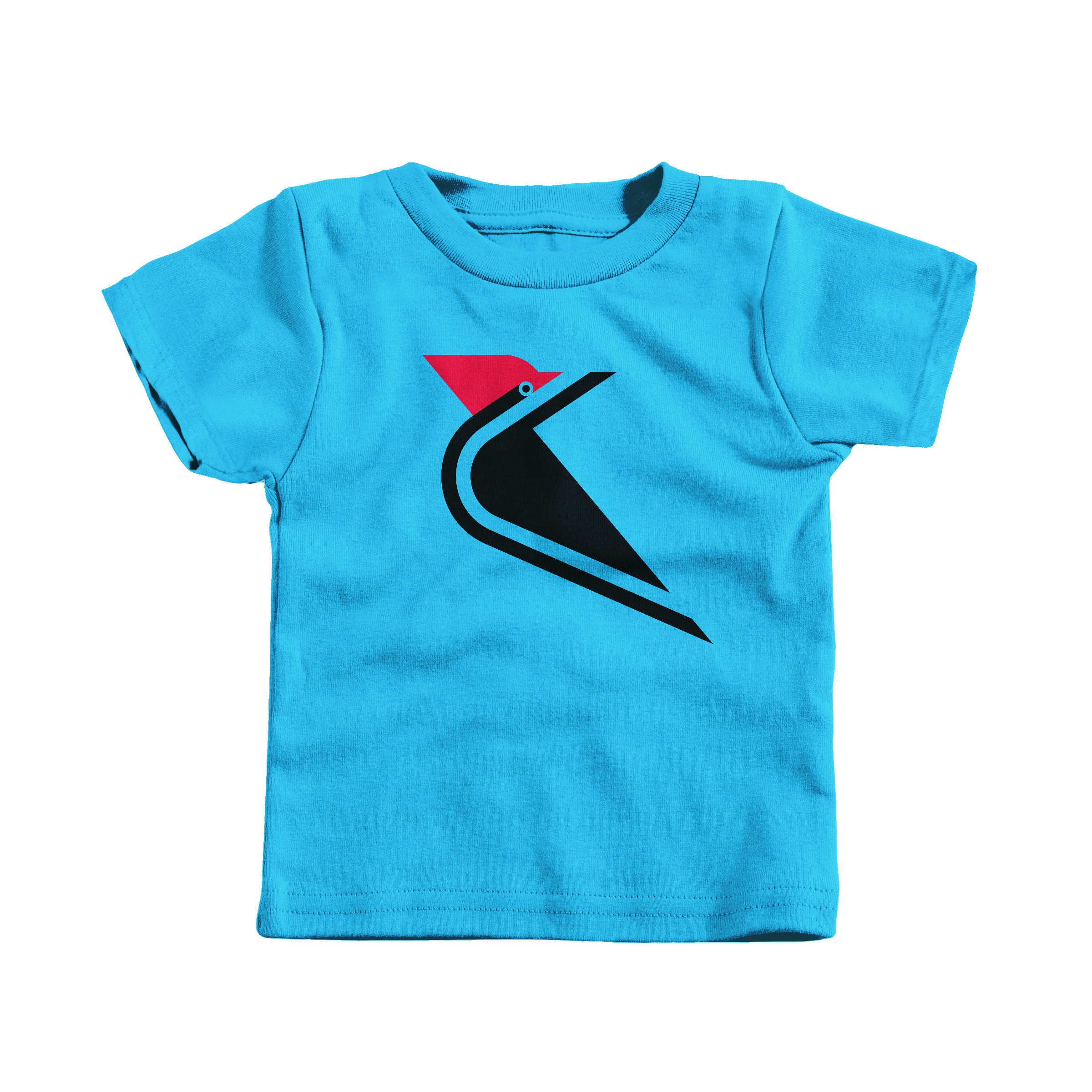 Pileated  Woodpecker Turquoise (T-Shirt)