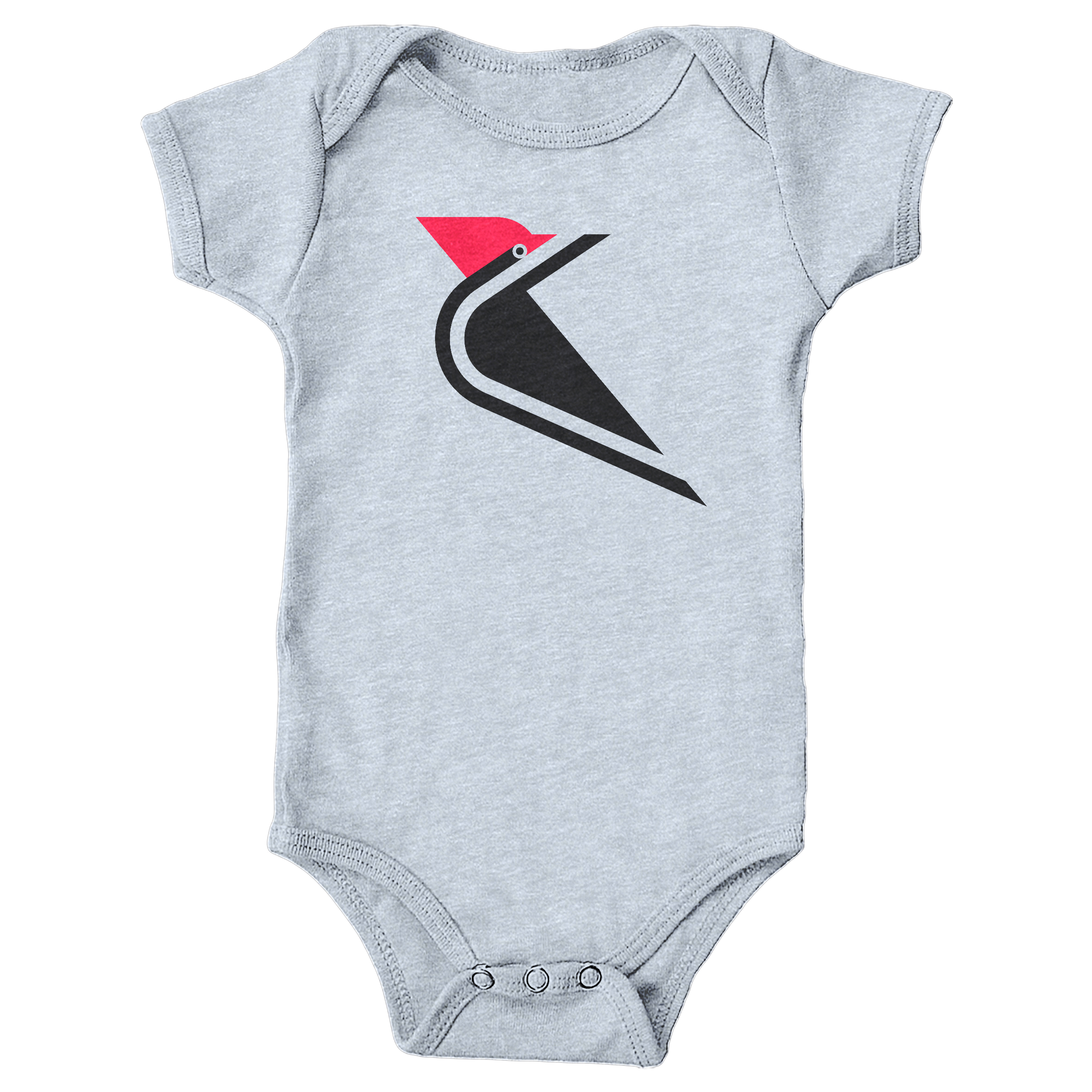 Pileated  Woodpecker Heather Grey (Onesie)