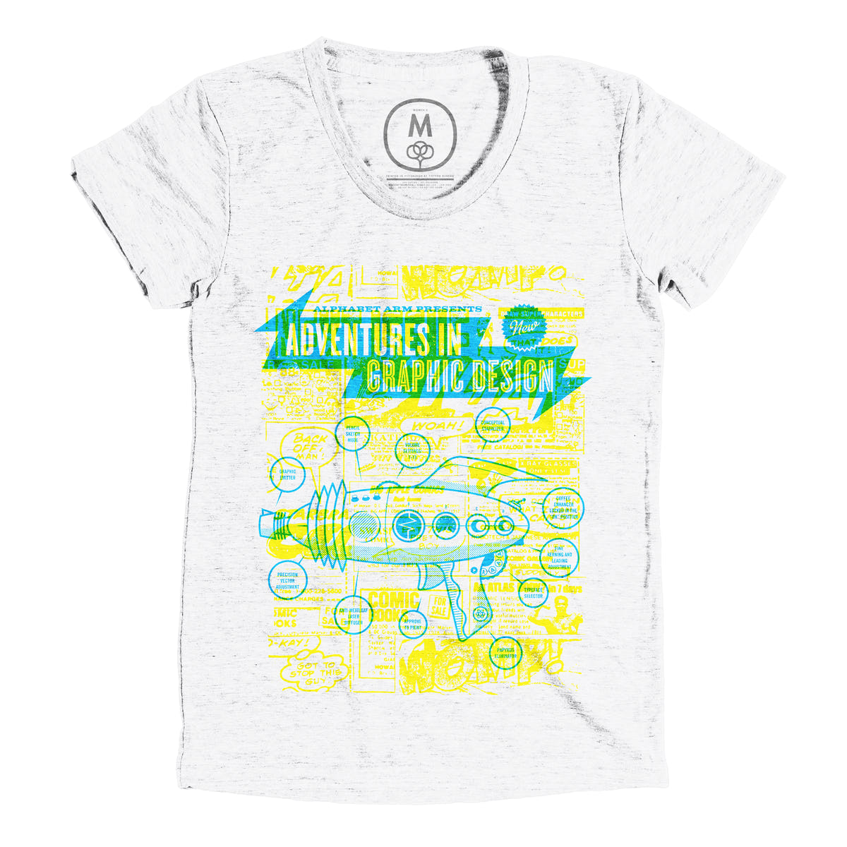 adventures in graphic design graphic tee and tank by alphabet arm cotton bureau. Black Bedroom Furniture Sets. Home Design Ideas