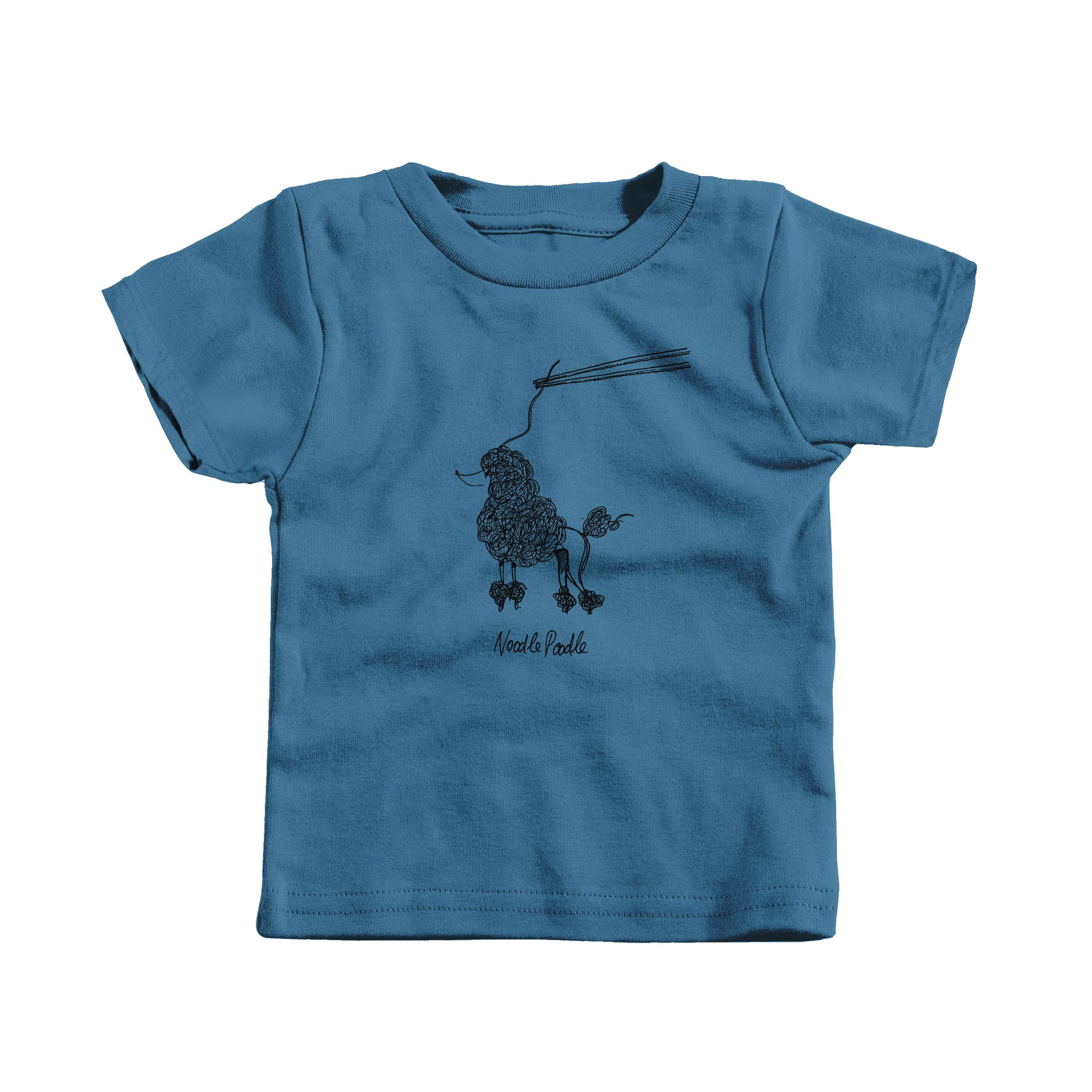 Noodle Poodle Indigo (T-Shirt)