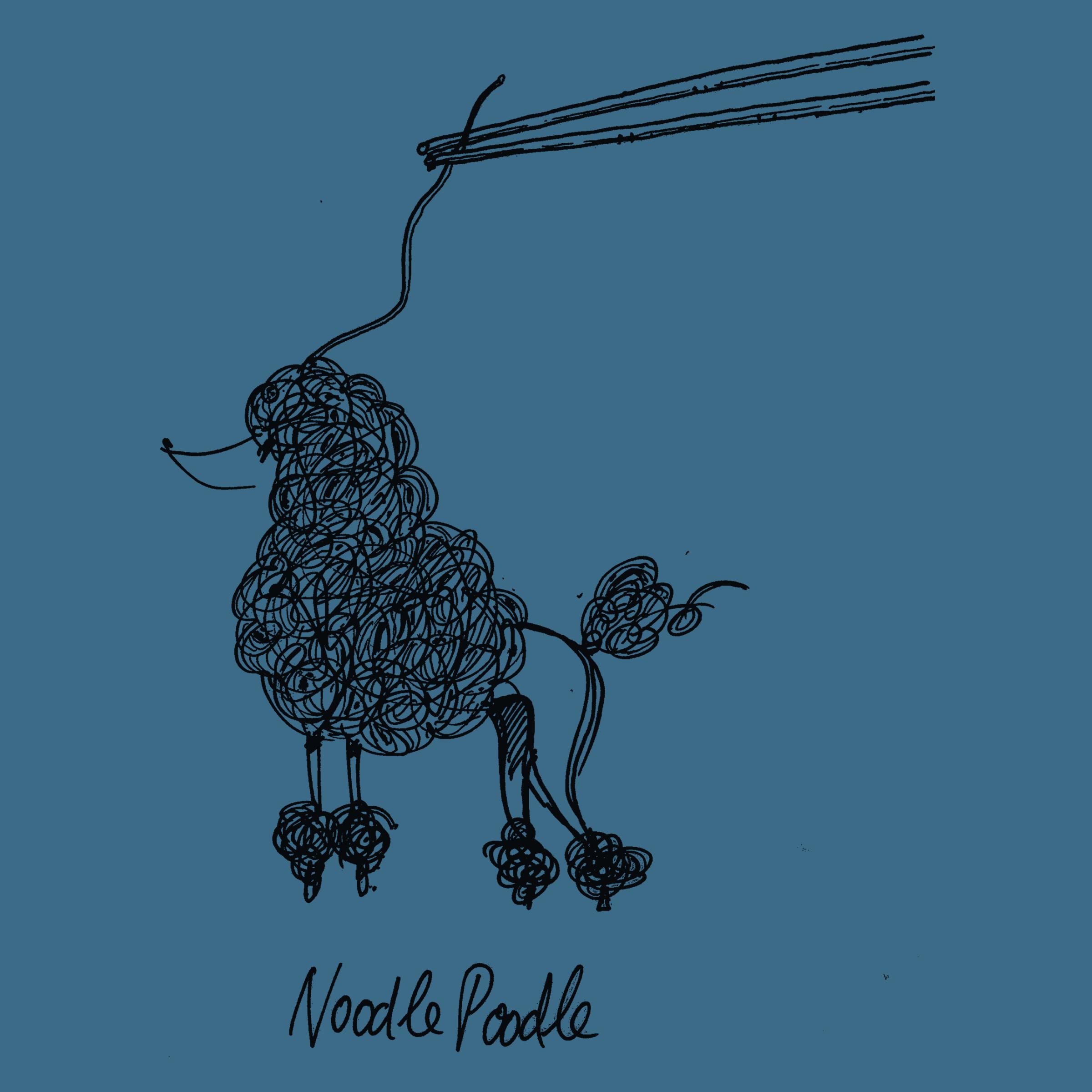 Noodle Poodle Detail
