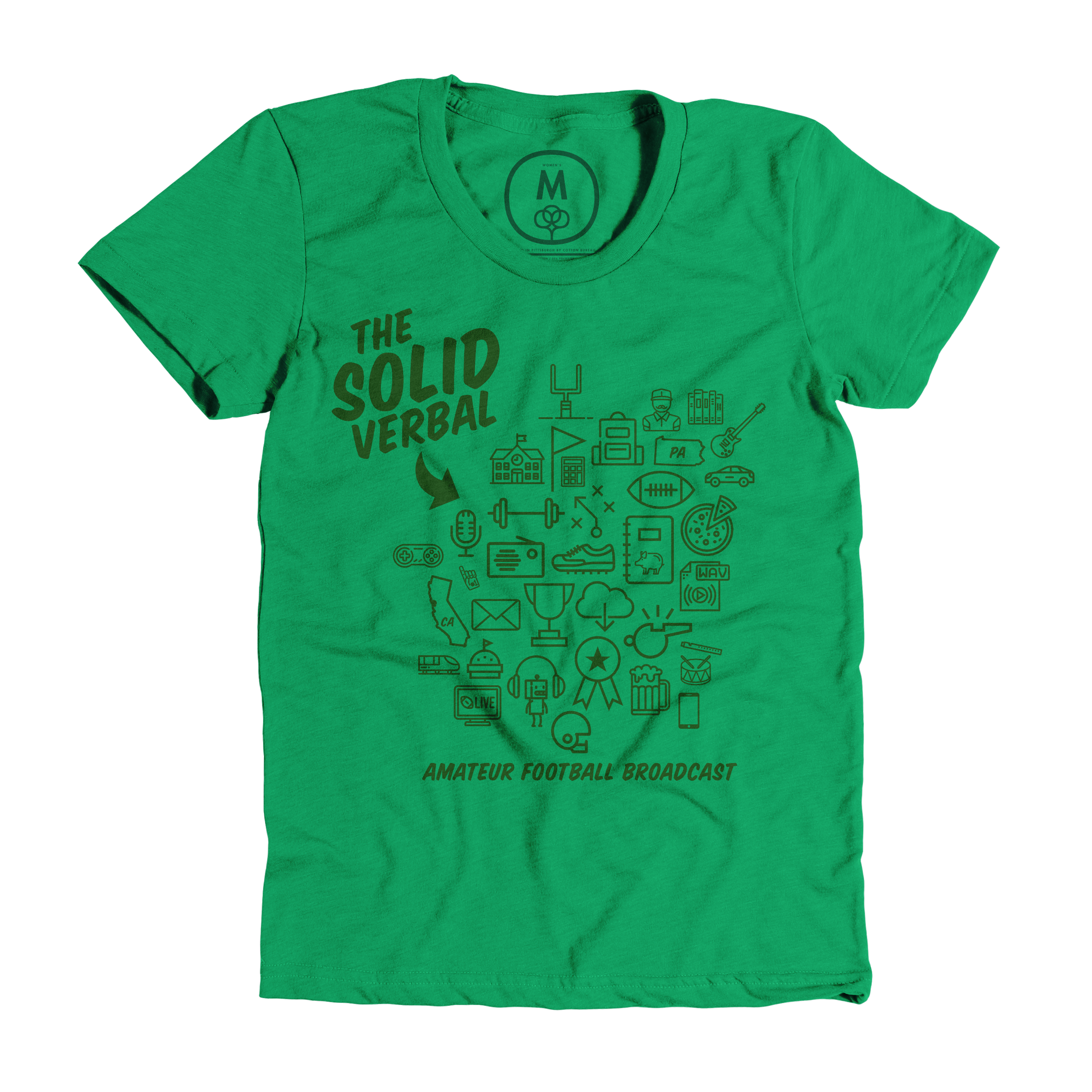 The Solid Verbal Kelly Green (Women's)