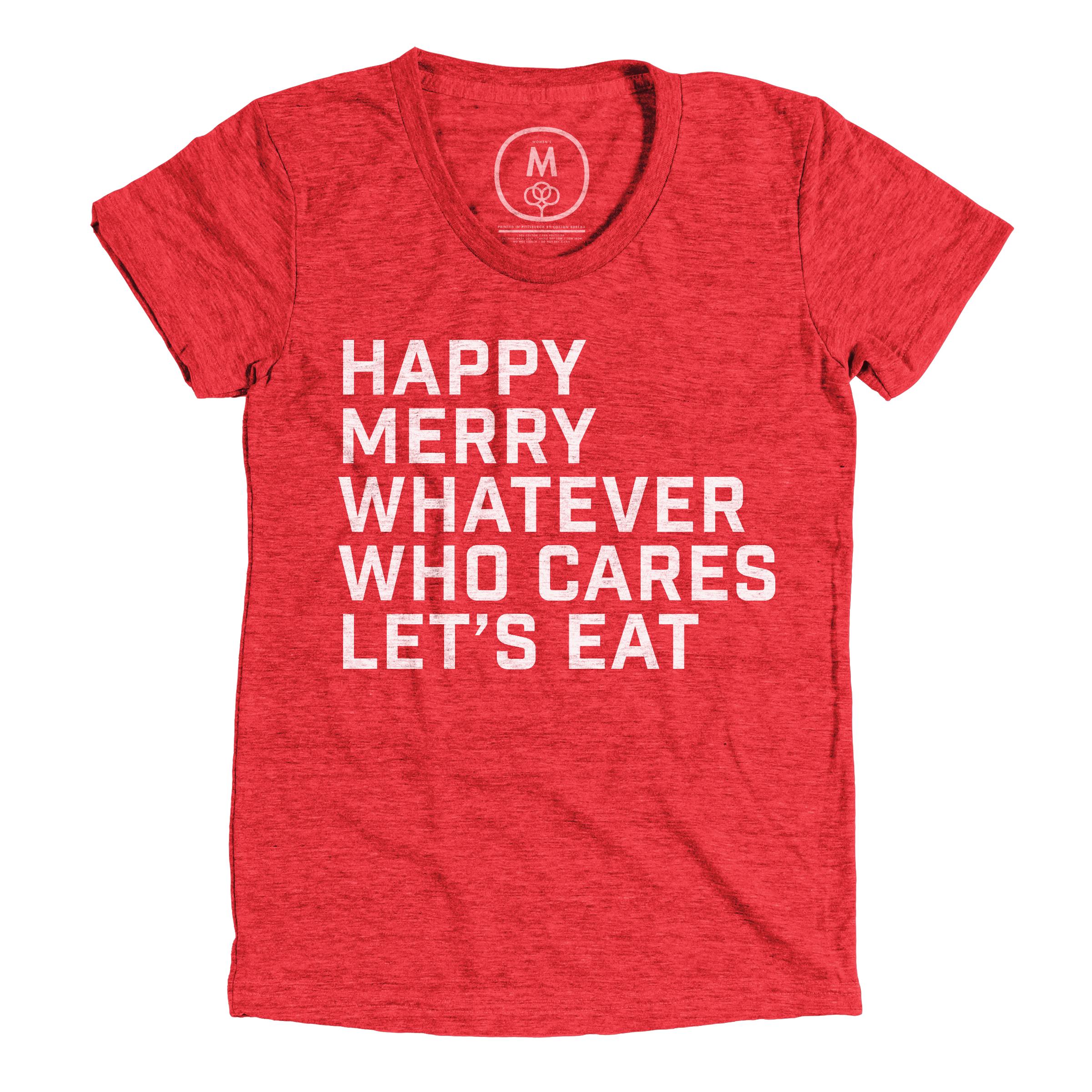 Let's Eat Vintage Red (Women's)