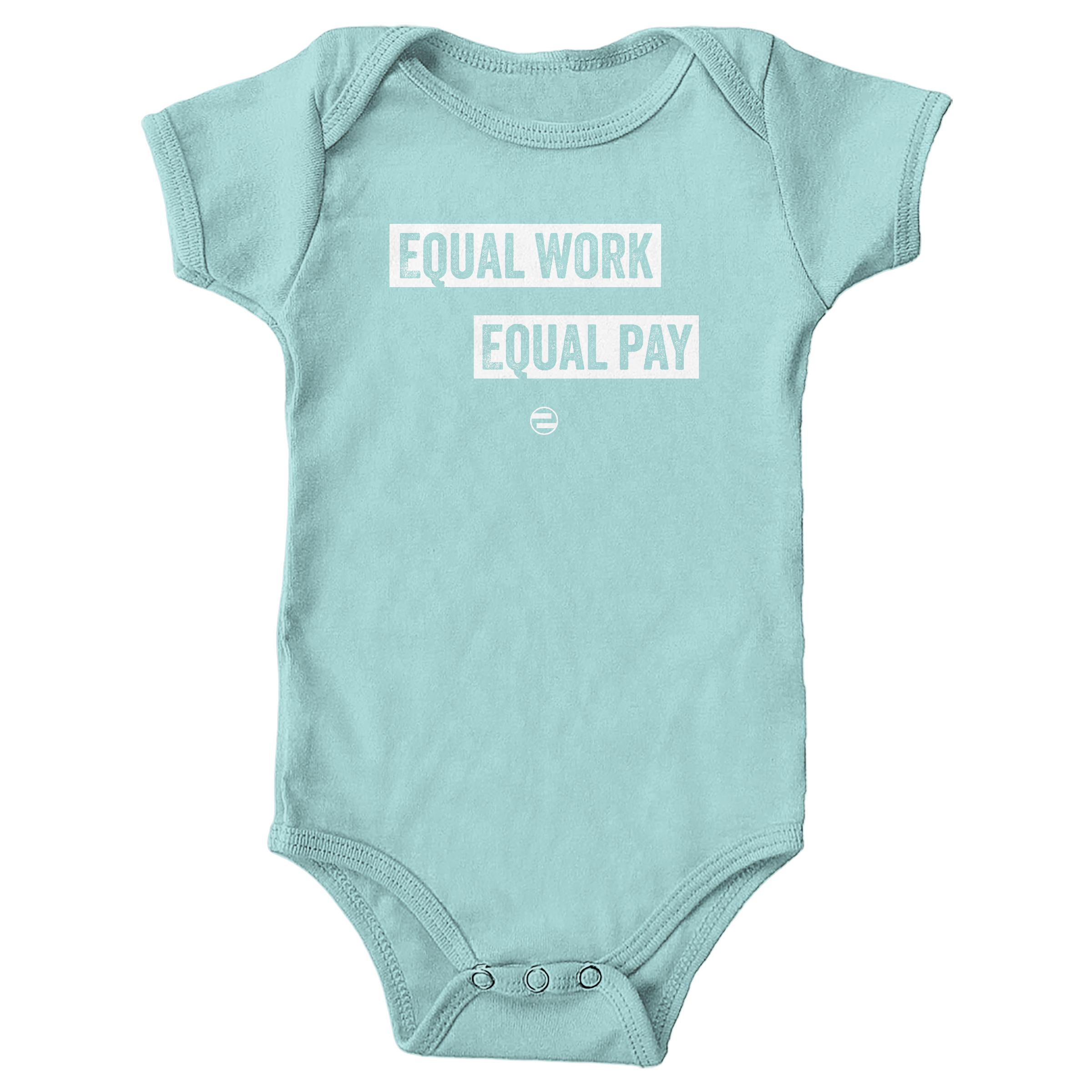 "GenEquality ""Equal Work Equal Pay"" Kids Tee & Onesie Chill (Onesie)"