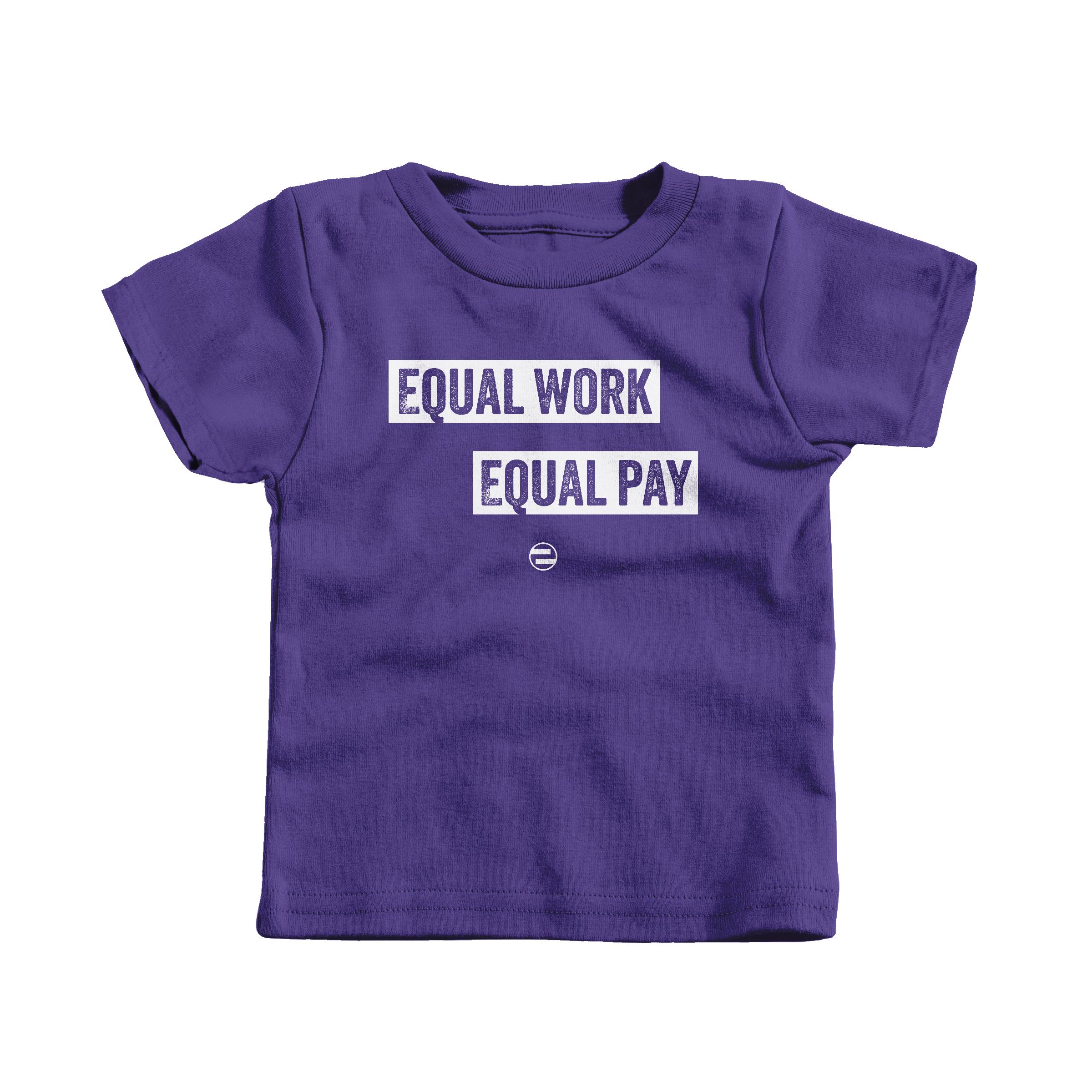 "GenEquality ""Equal Work Equal Pay"" Kids Tee & Onesie Purple (T-Shirt)"