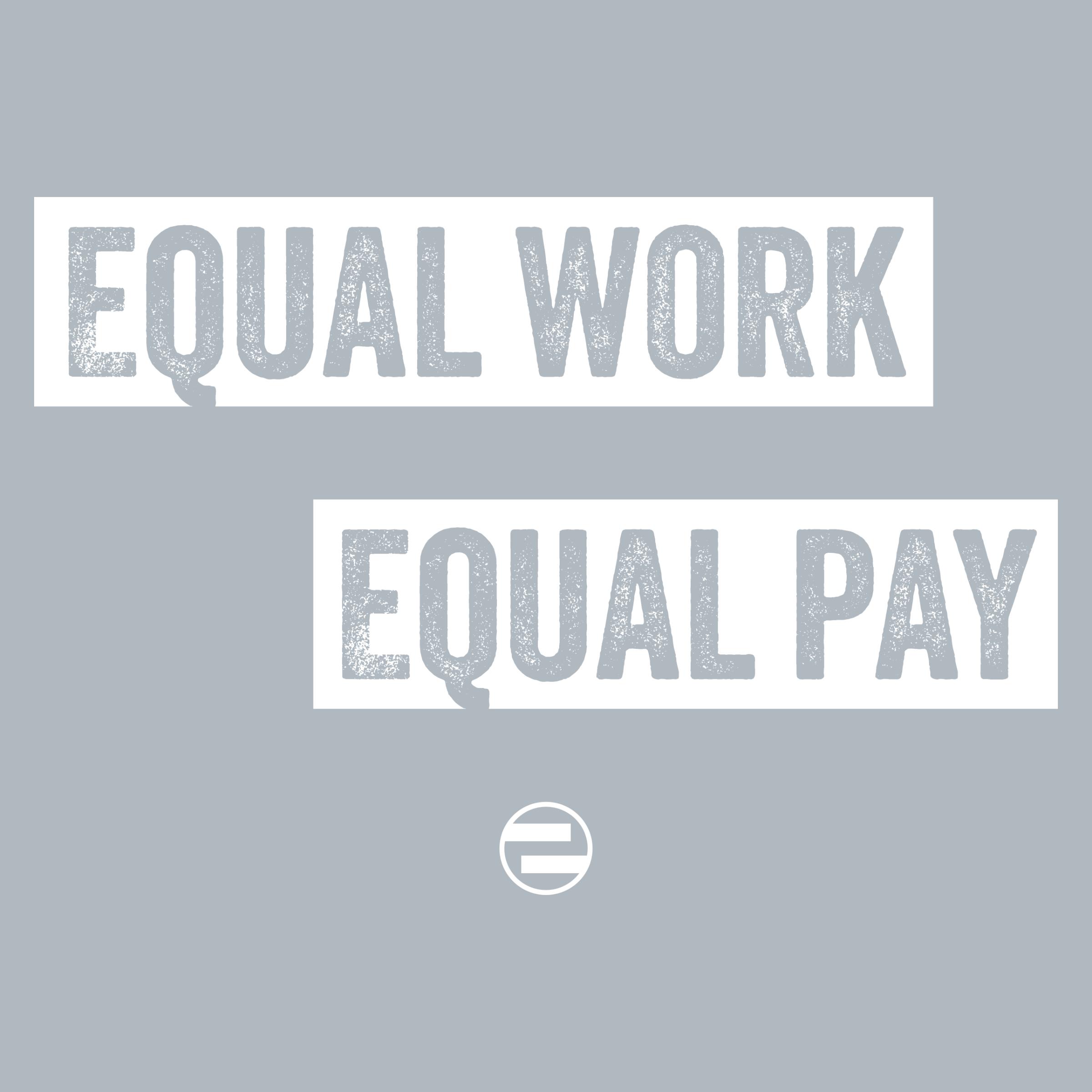 """GenEquality """"Equal Work Equal Pay"""" Kids Tee & Onesie Detail"""