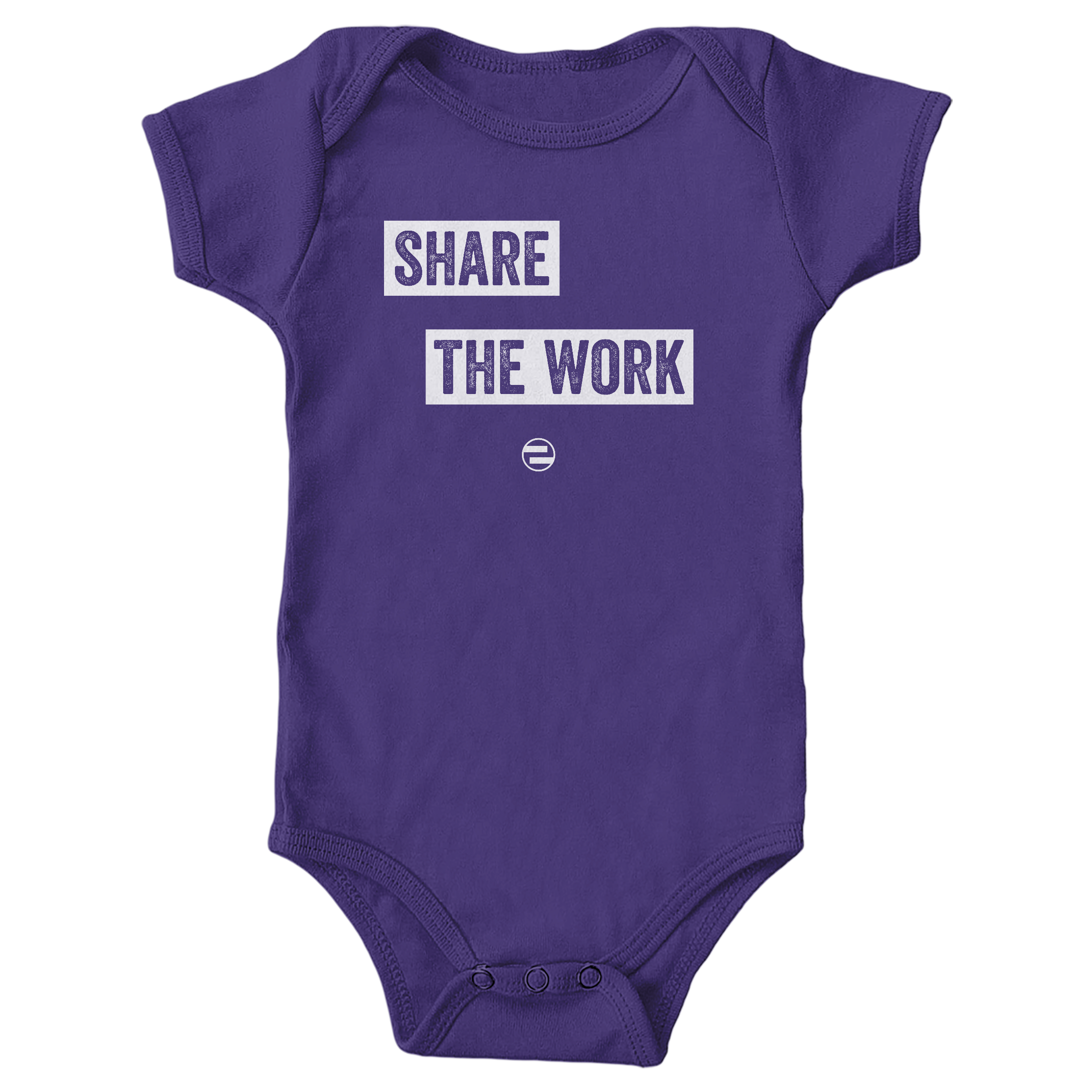 "GenEquality ""Share the Work"" Kids Tee & Onesie Purple (Onesie)"