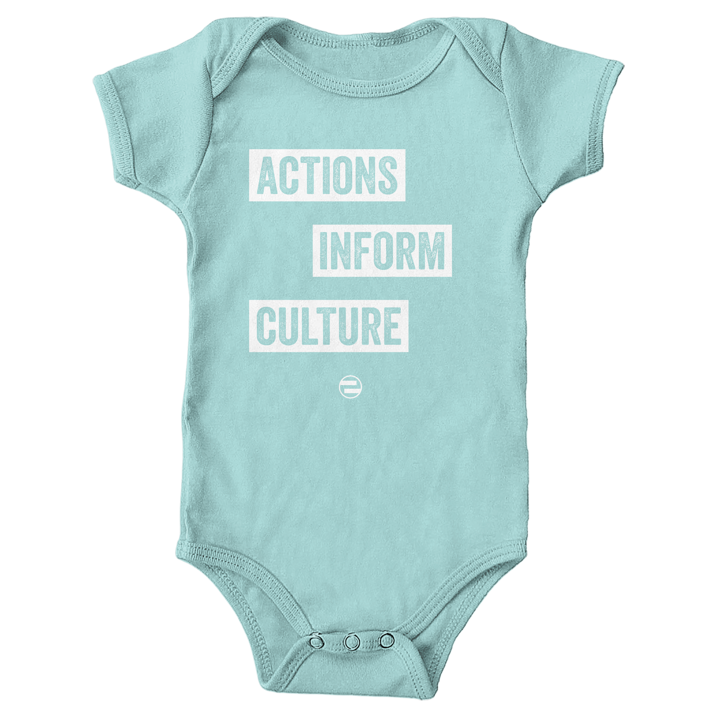 "GenEquality ""Actions Inform Culture"" Kids Tee & Onesie Chill (Onesie)"