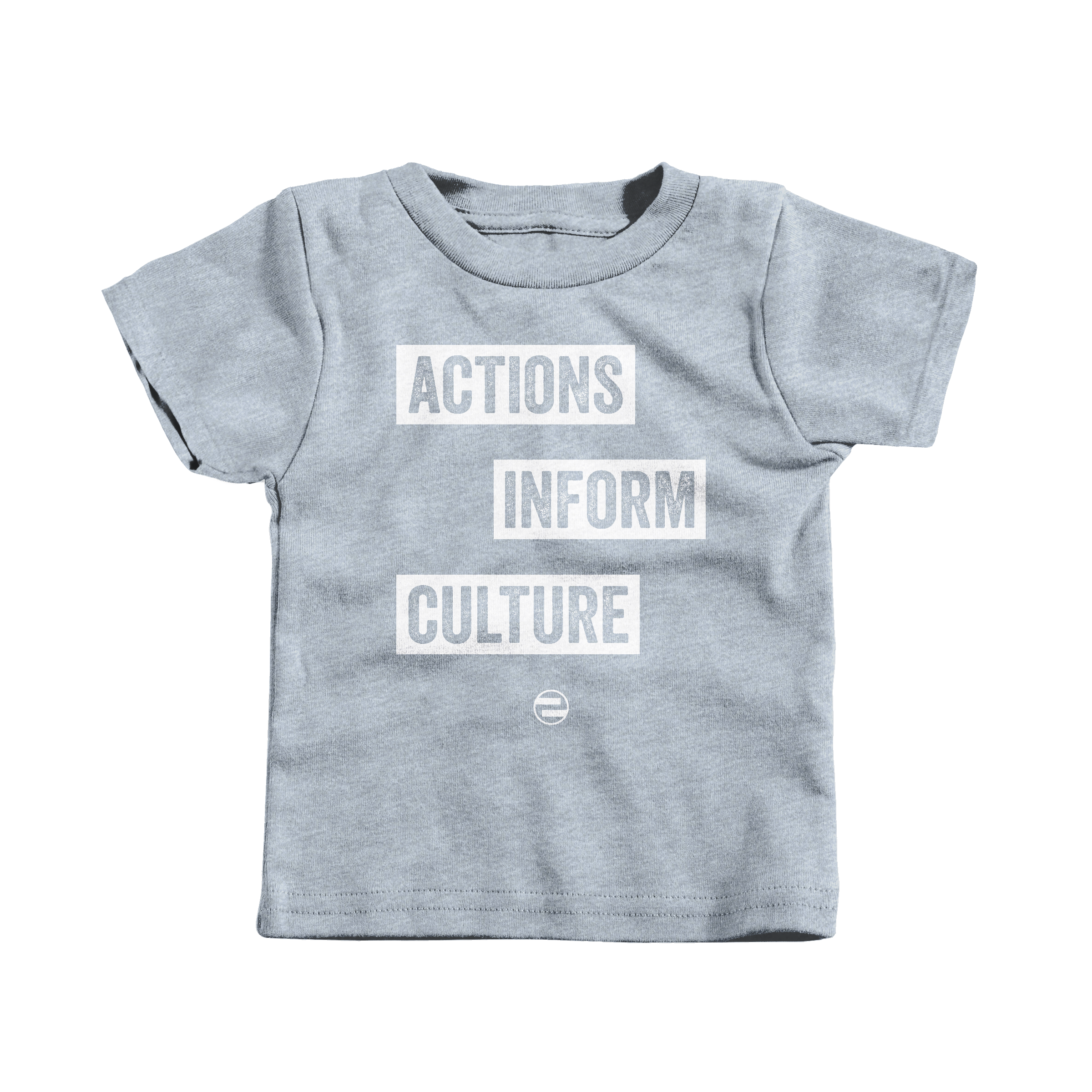 "GenEquality ""Actions Inform Culture"" Kids Tee & Onesie Heather Grey (T-Shirt)"