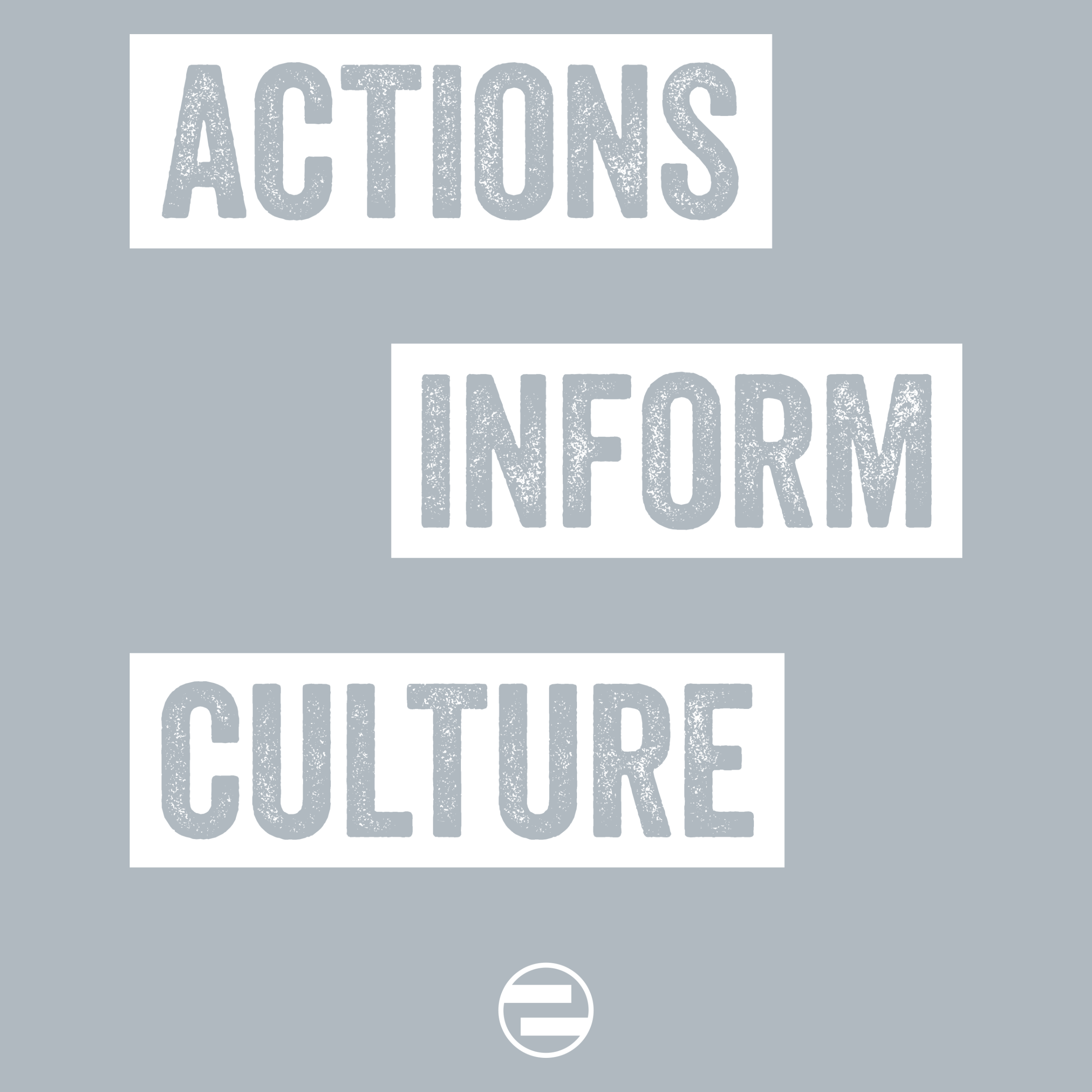 "GenEquality ""Actions Inform Culture"" Kids Tee & Onesie Detail"