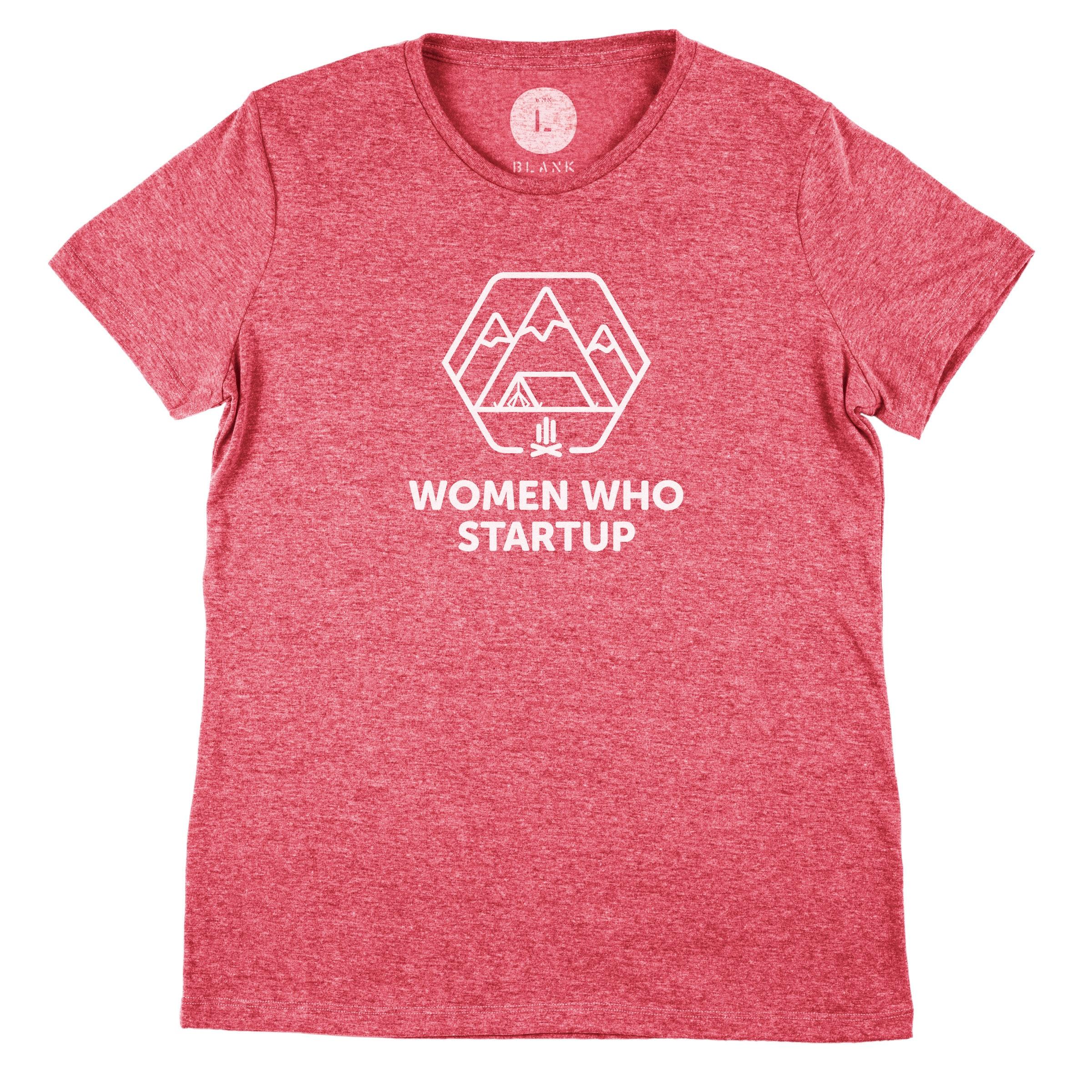 Women Who Startup Tri-Red (Women's)