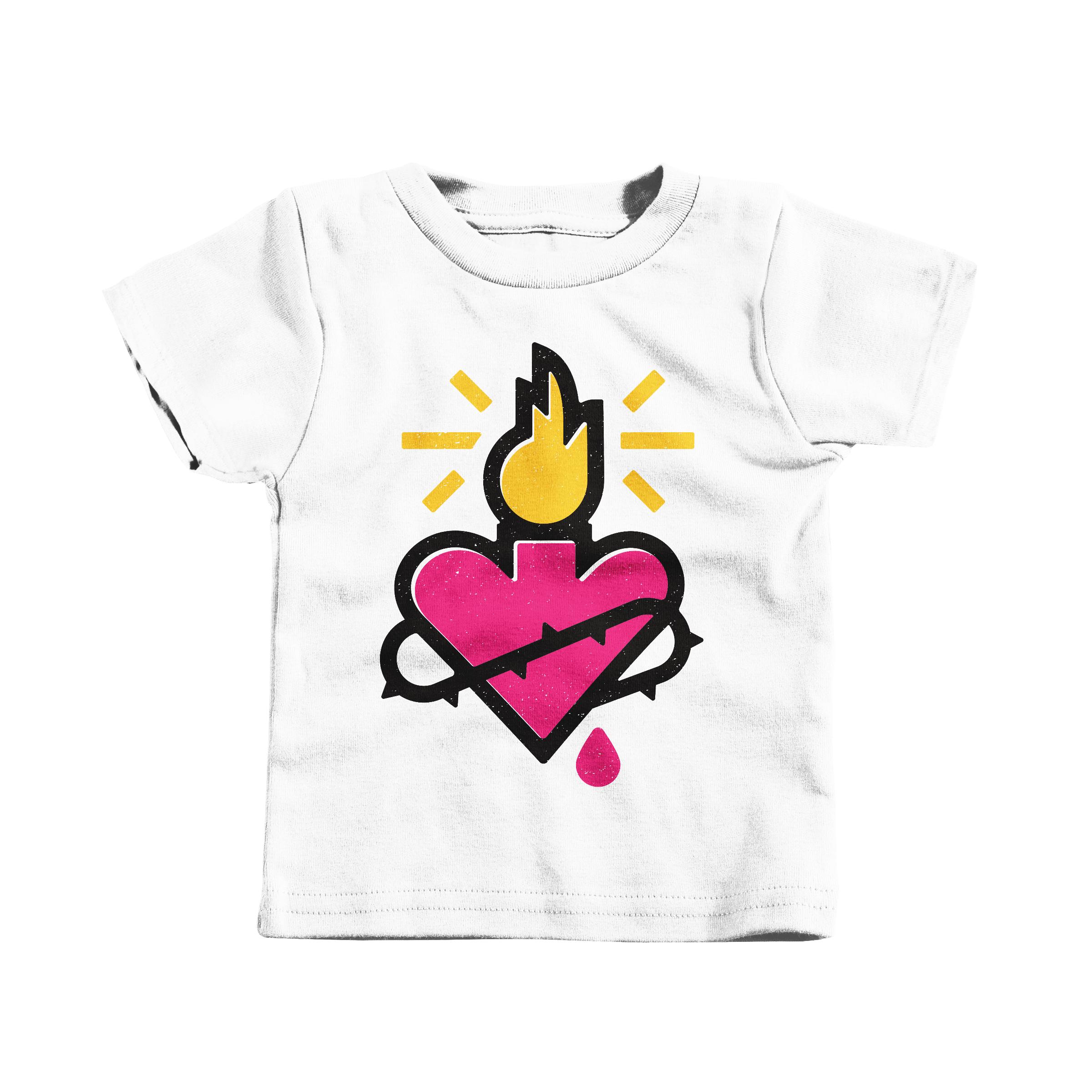 Sacred Heart White (T-Shirt)